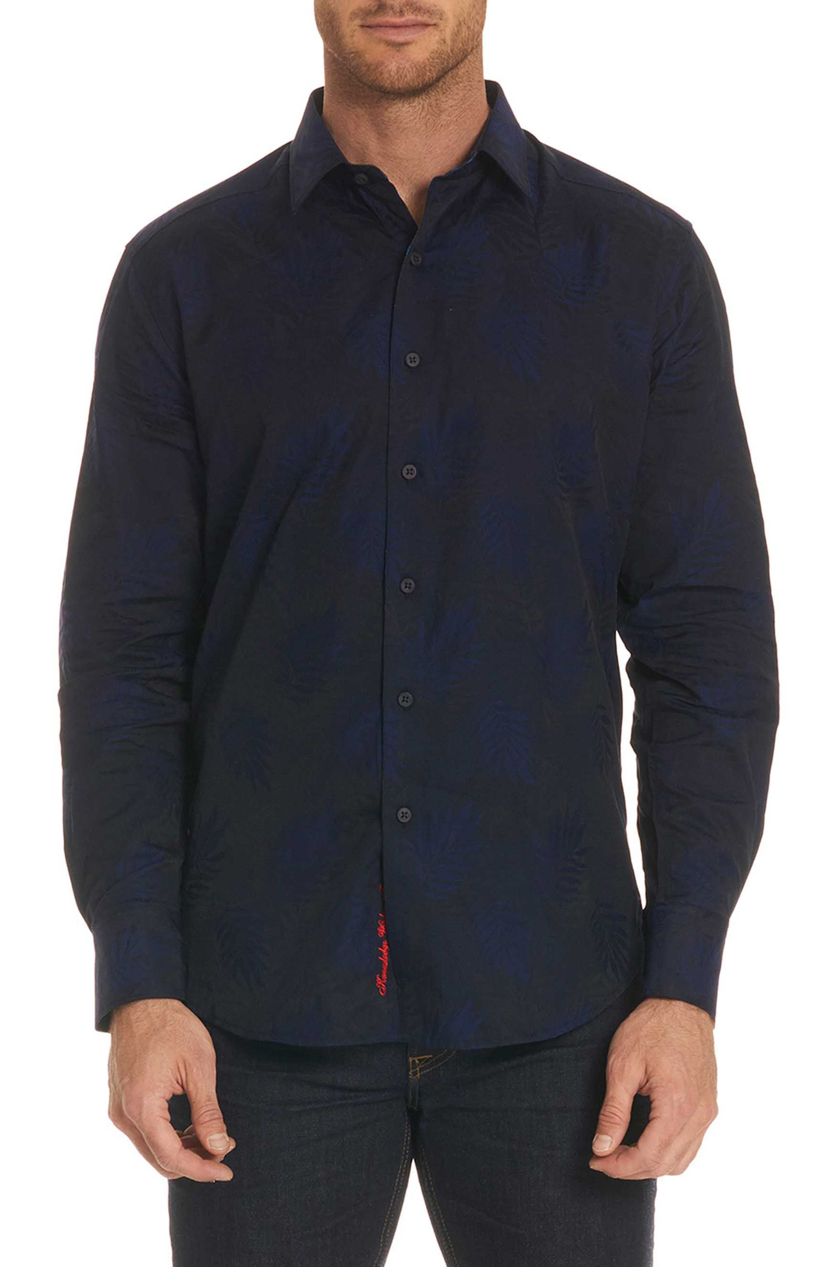 Monte Classic Fit Sport Shirt,                             Main thumbnail 1, color,                             Midnight Navy