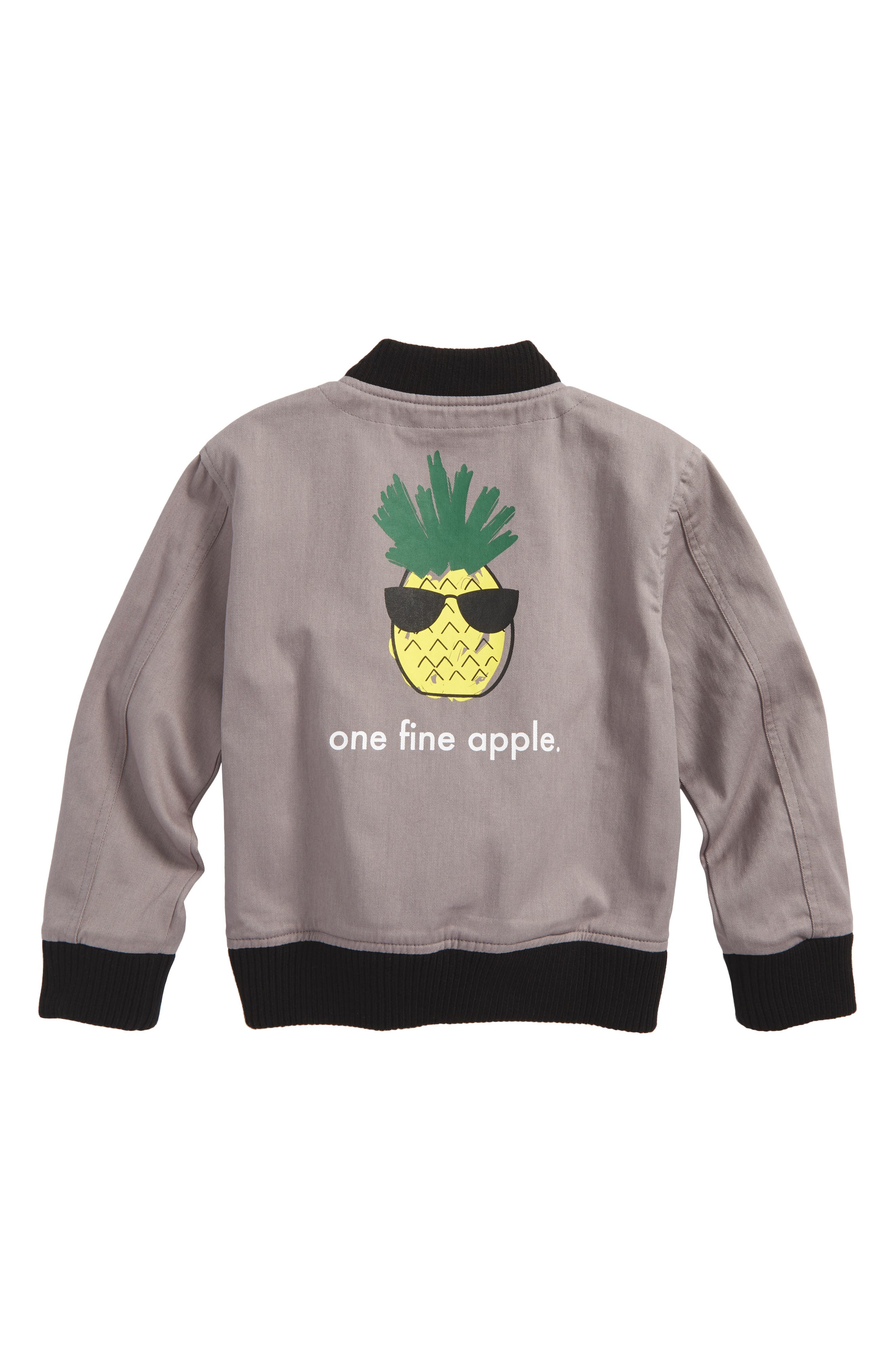 One Fine Apple Bomber Jacket,                             Alternate thumbnail 2, color,                             Grey