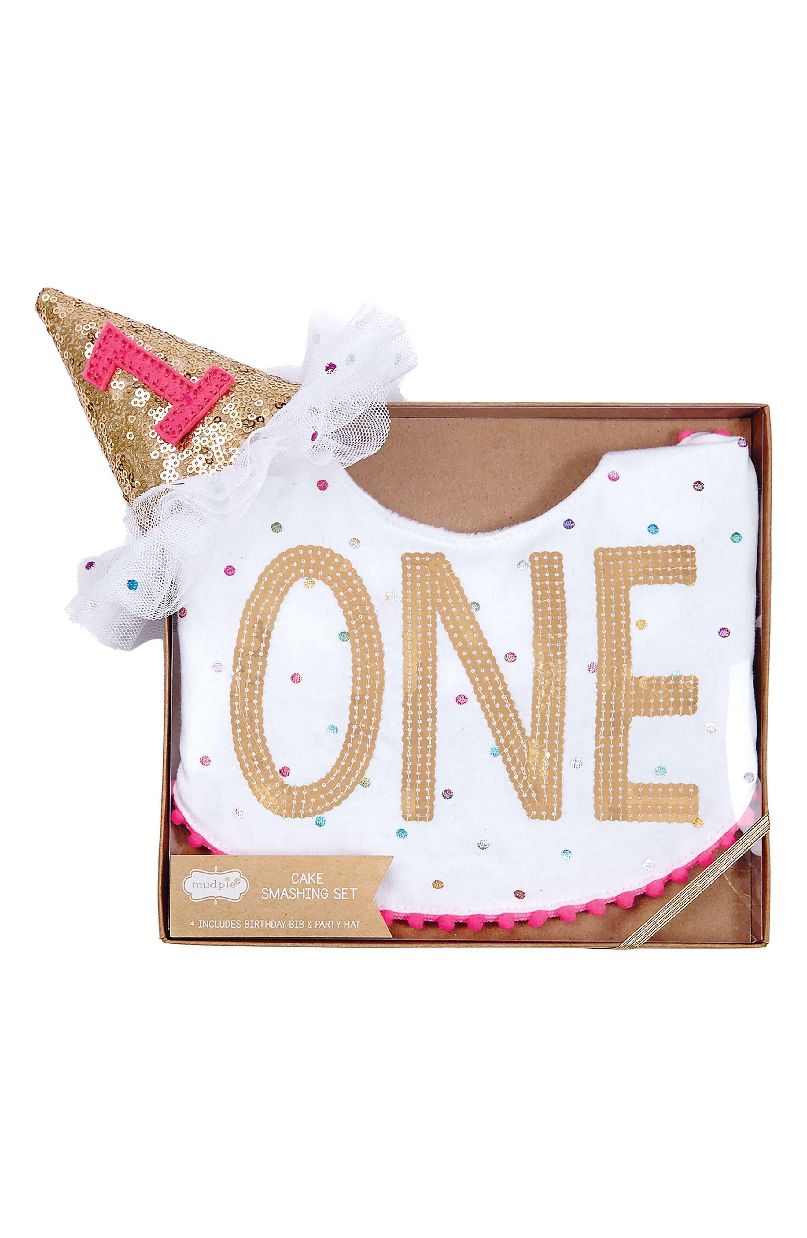 Mud Pie One Cake Smash Set (Baby Girls)