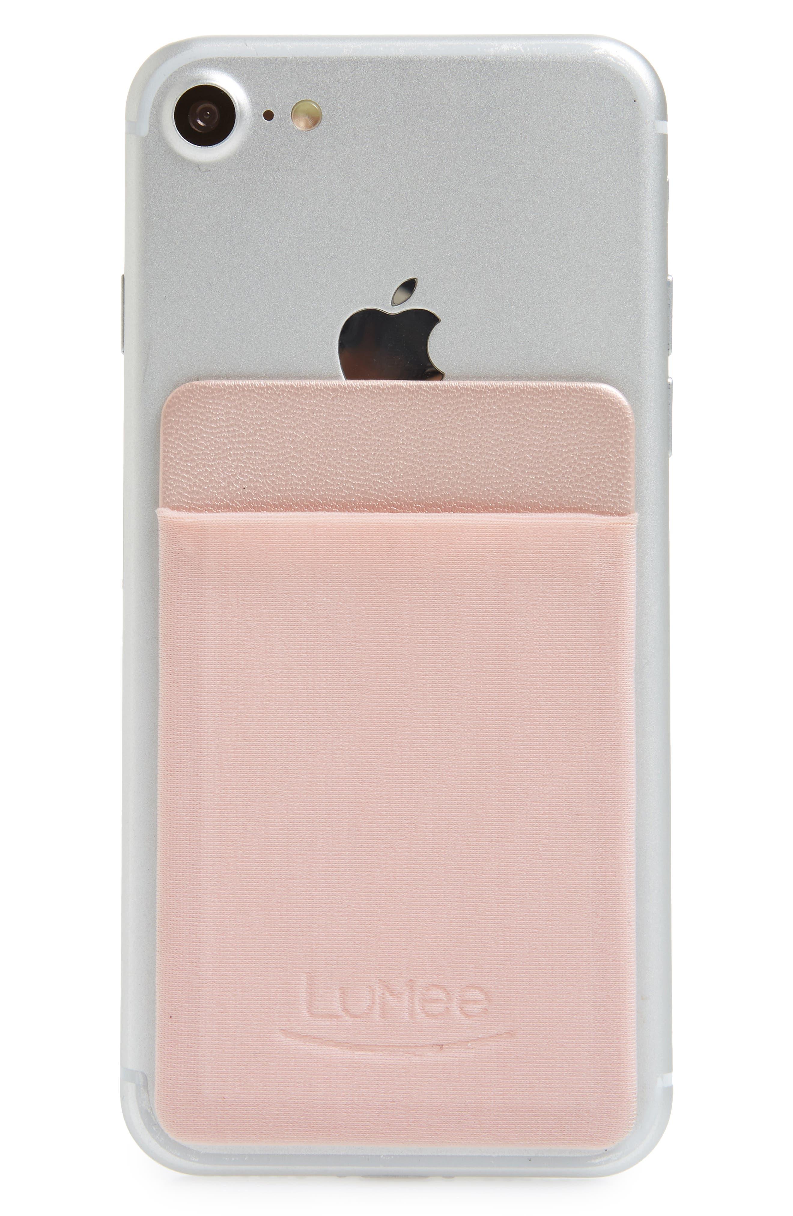 Card Phone Pocket,                             Alternate thumbnail 2, color,                             Rose Gold