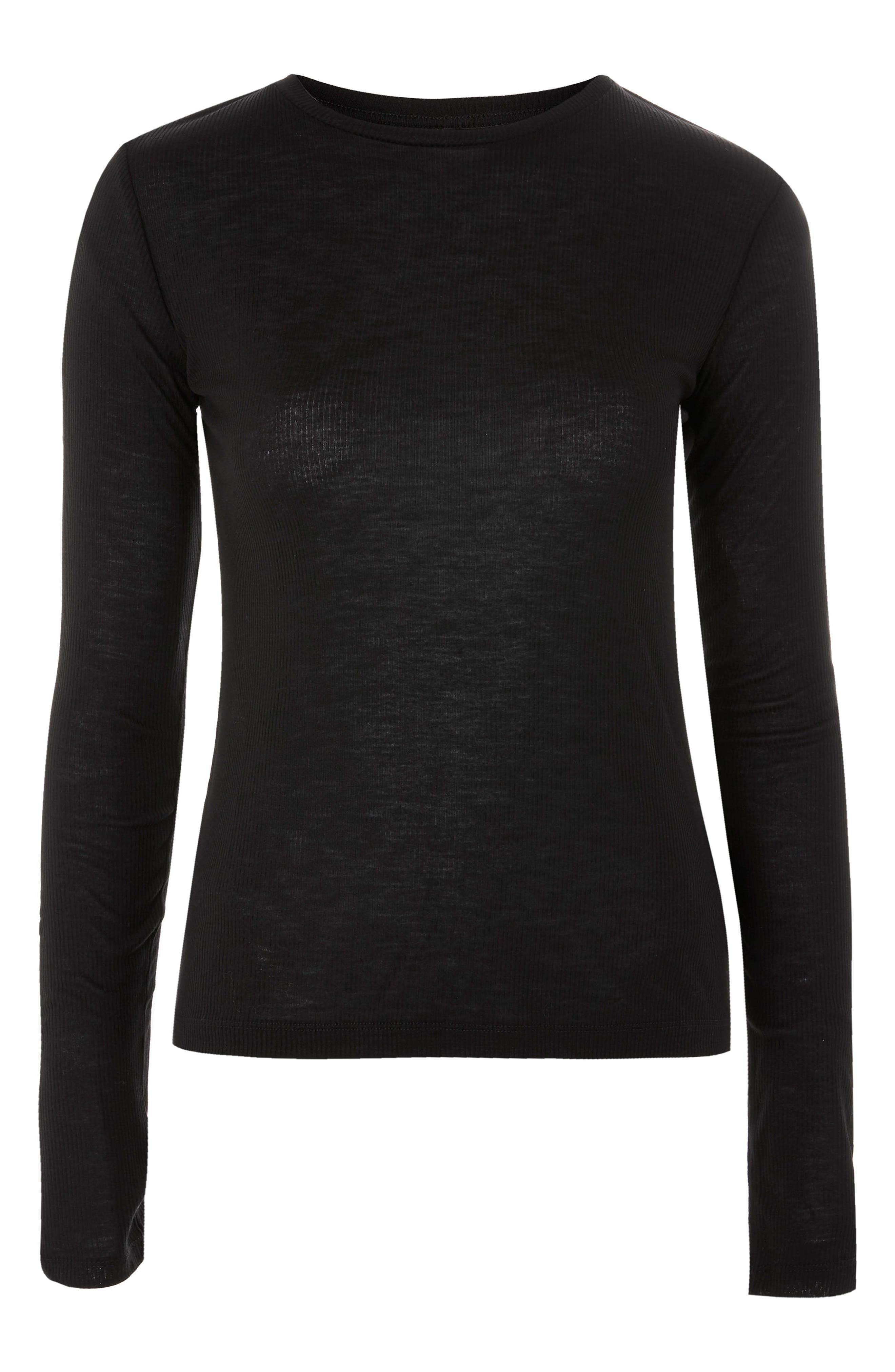 Topshop Boutique Ribbed Long Sleeve Tee