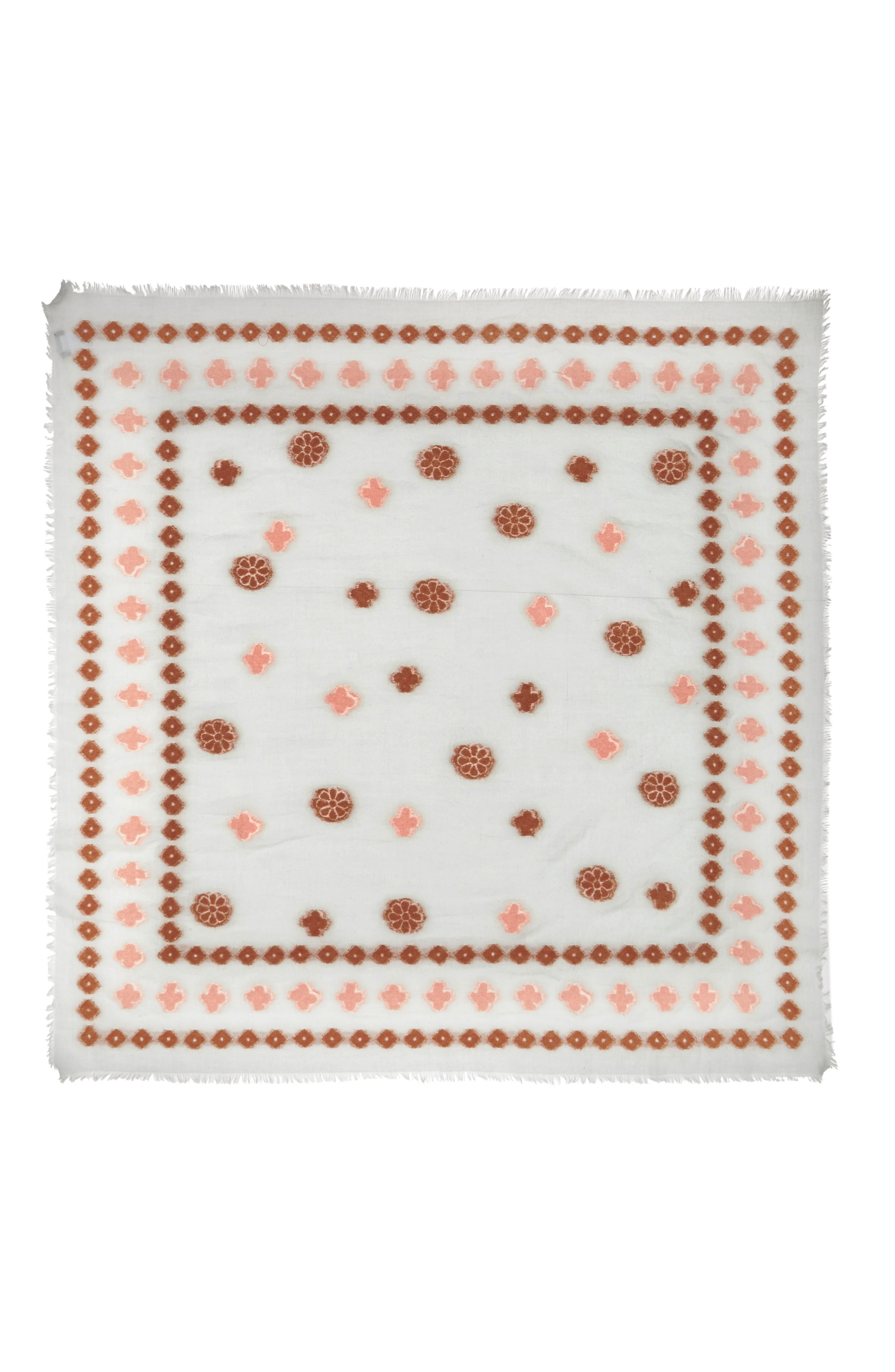 Madwell Clover Grid Square Scarf,                             Alternate thumbnail 2, color,                             Dawn Mist