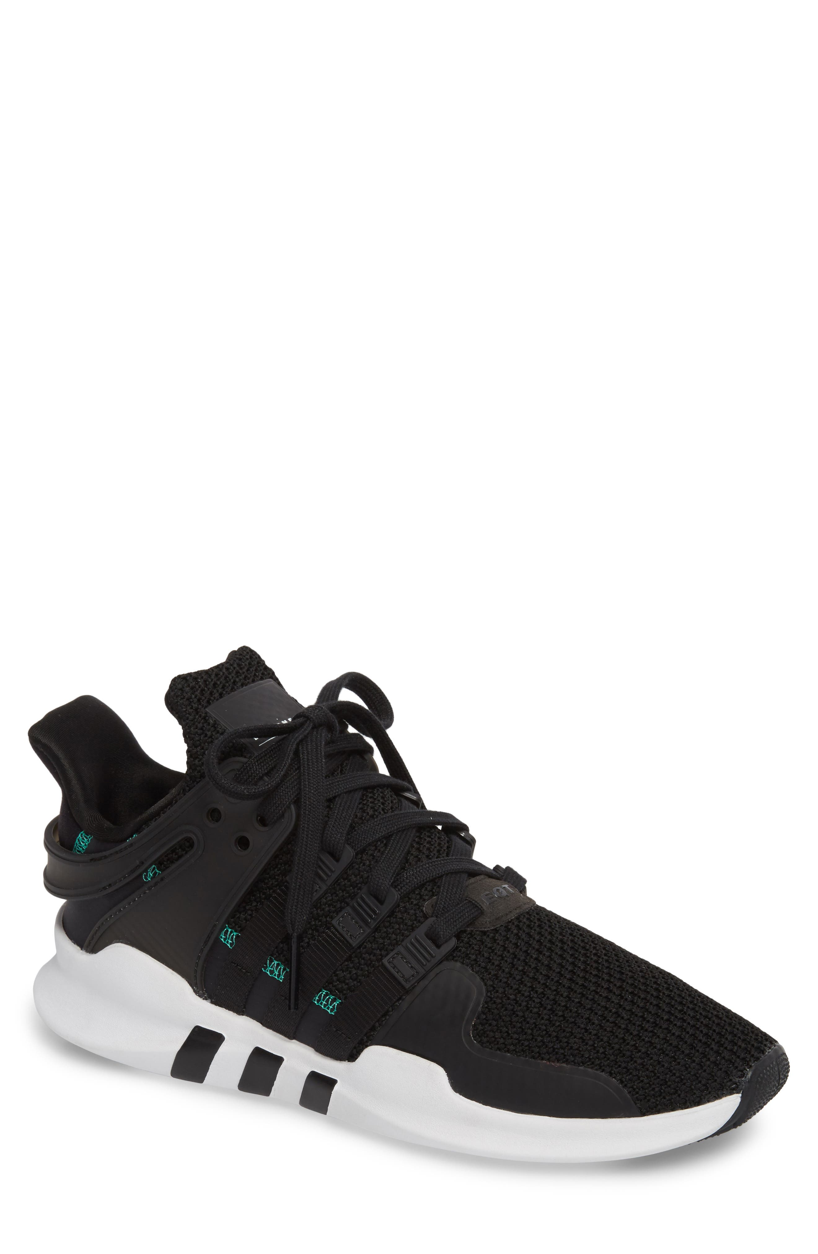 EQT Support Adv Sneaker,                             Main thumbnail 1, color,                             Core Black/ White