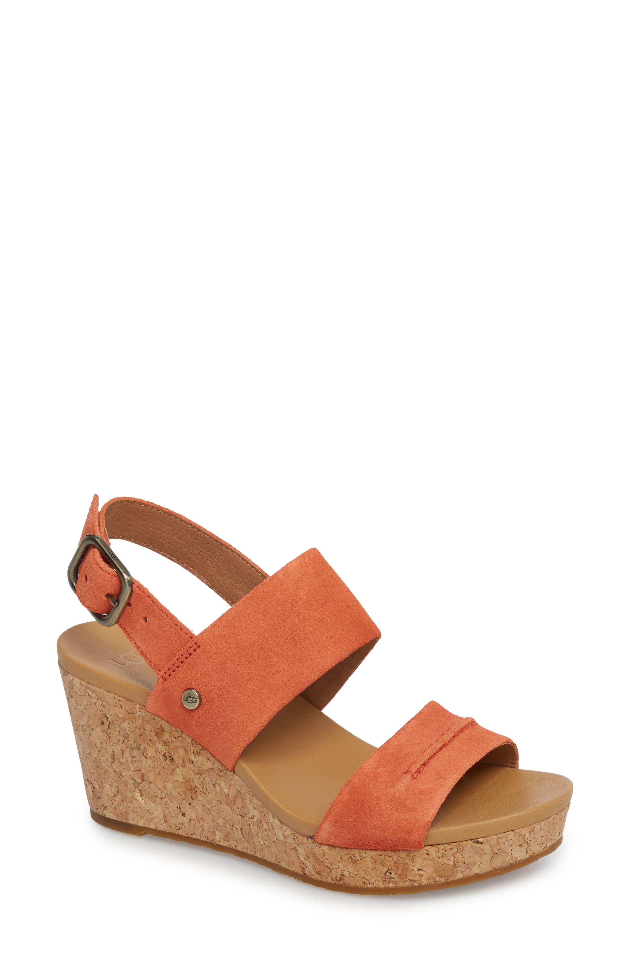 UGG® Elena II Platform Wedge Sandal (Women)