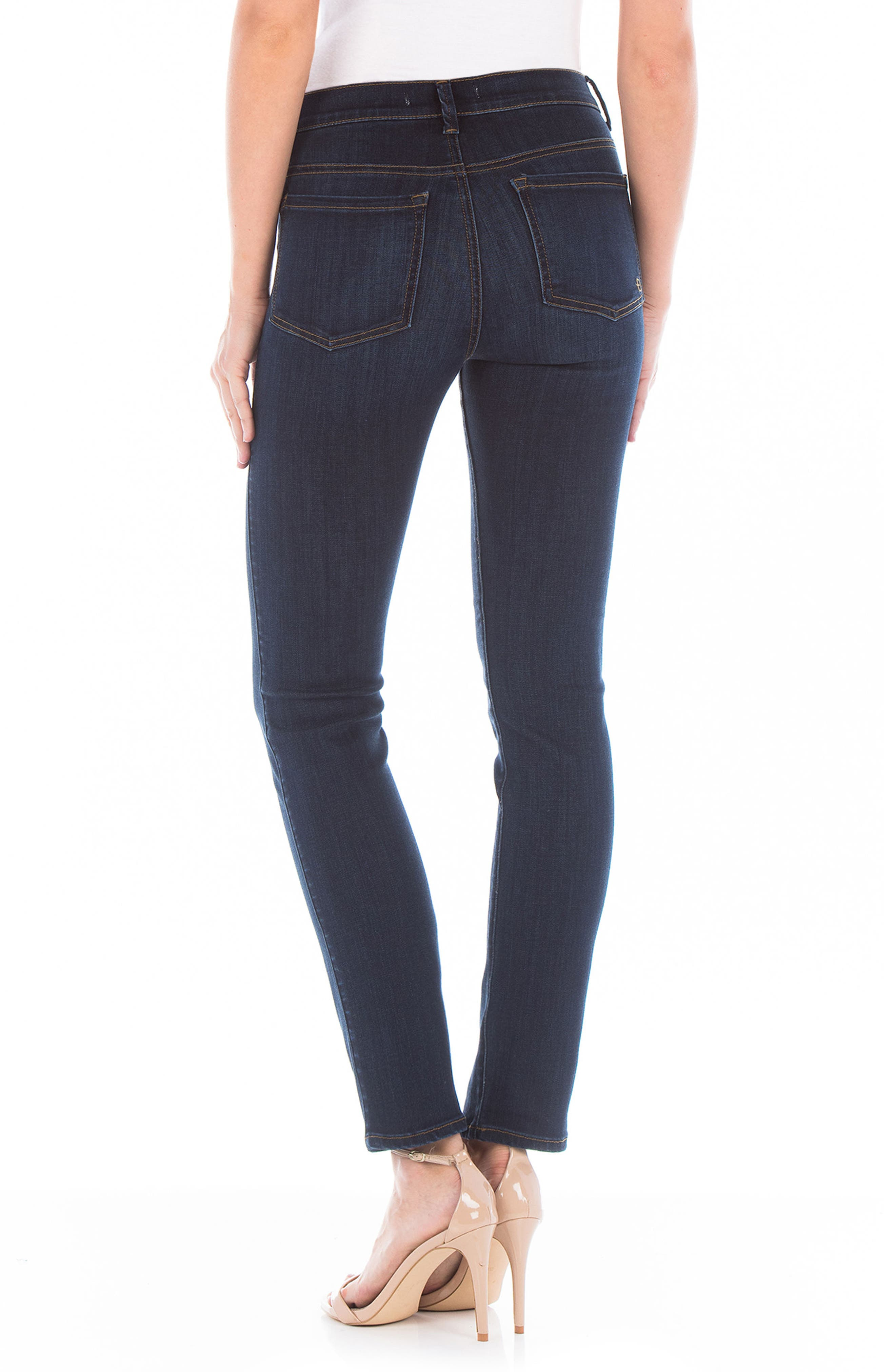 Cher High Waist Slim Jeans,                             Alternate thumbnail 2, color,                             Bali Blue