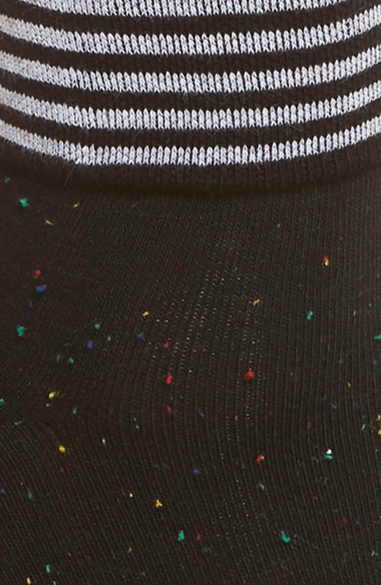 Tina Foldover Ankle Socks,                             Alternate thumbnail 2, color,                             Black