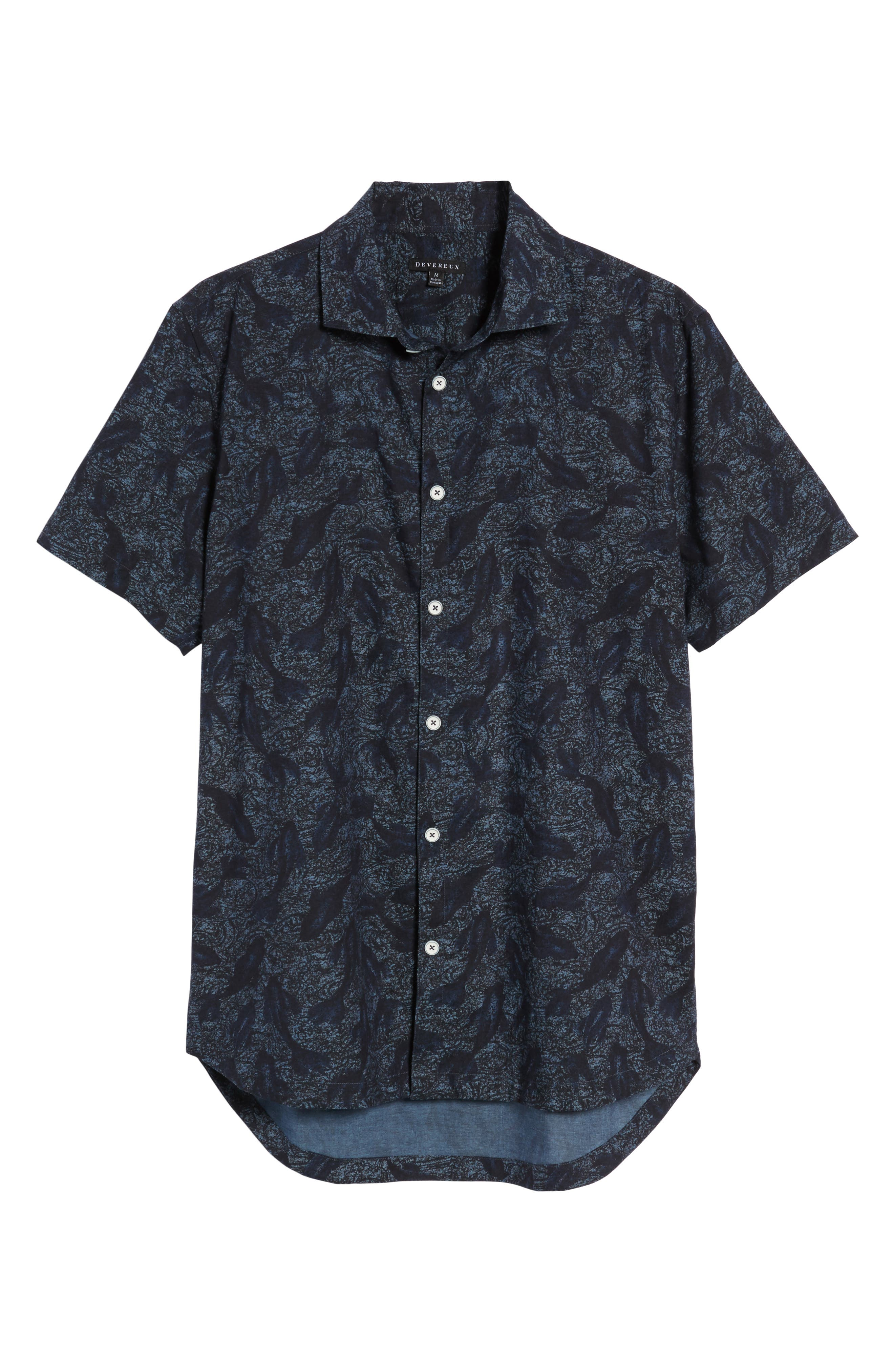 Cabana Print Sport Shirt,                             Alternate thumbnail 6, color,                             Japanese Koi