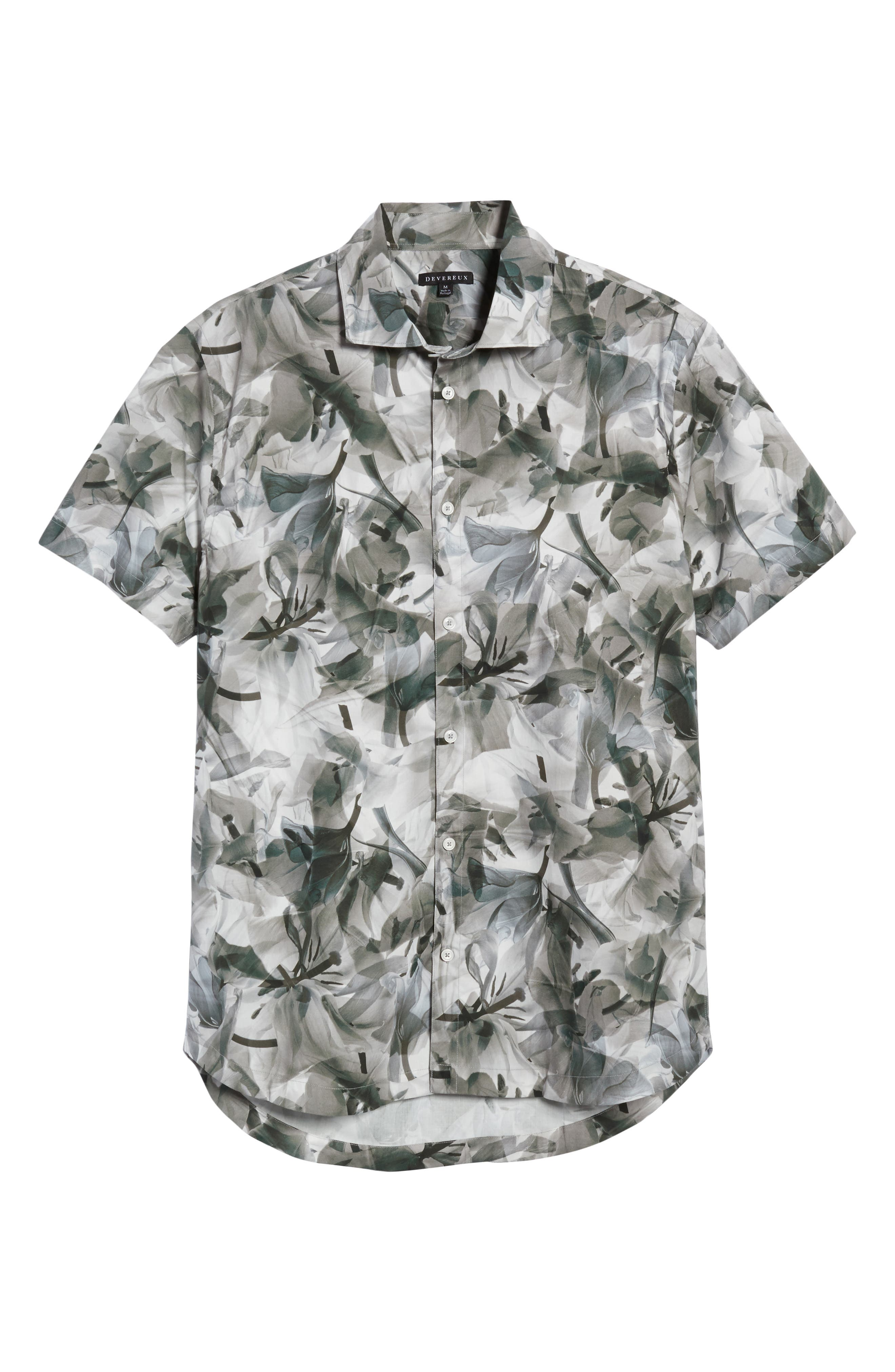Cabana Regular Fit Sport Shirt,                             Alternate thumbnail 6, color,                             Floral X-Ray
