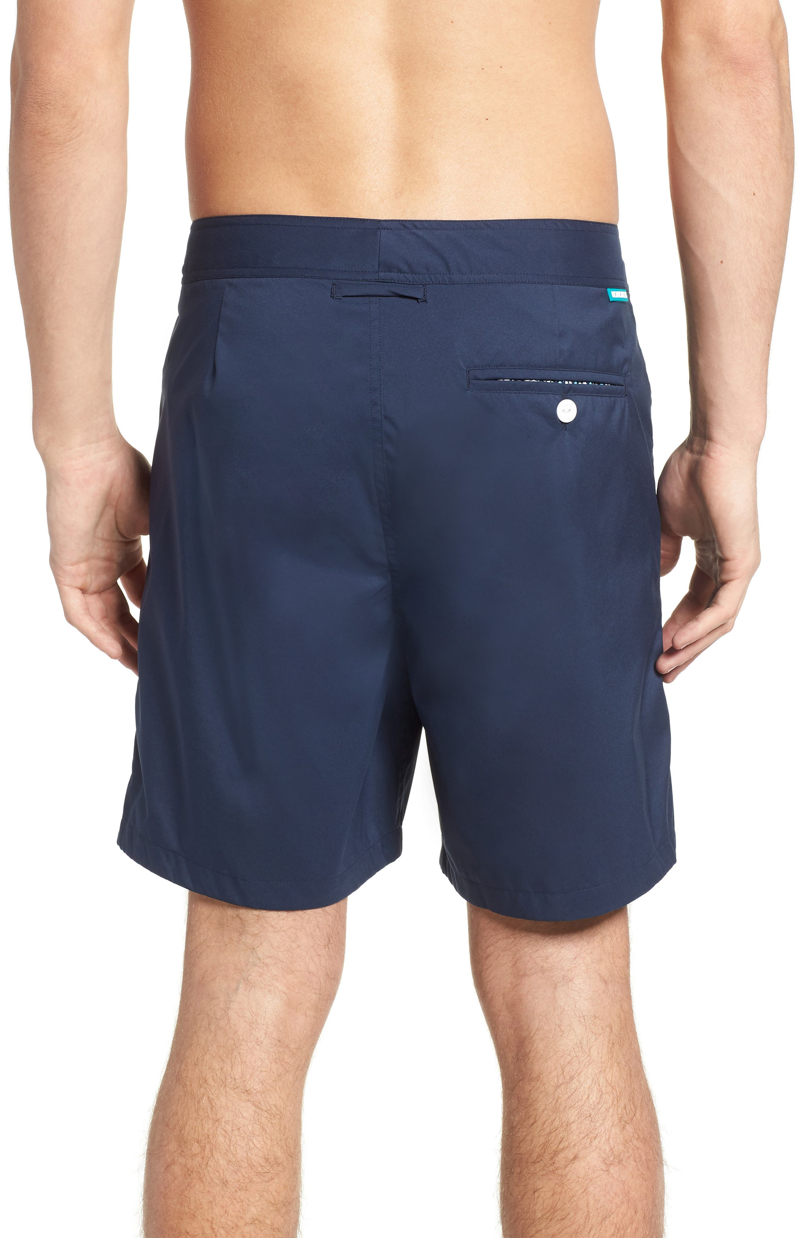 Solid 7-Inch Swim Trunks,                             Alternate thumbnail 2, color,                             Indio