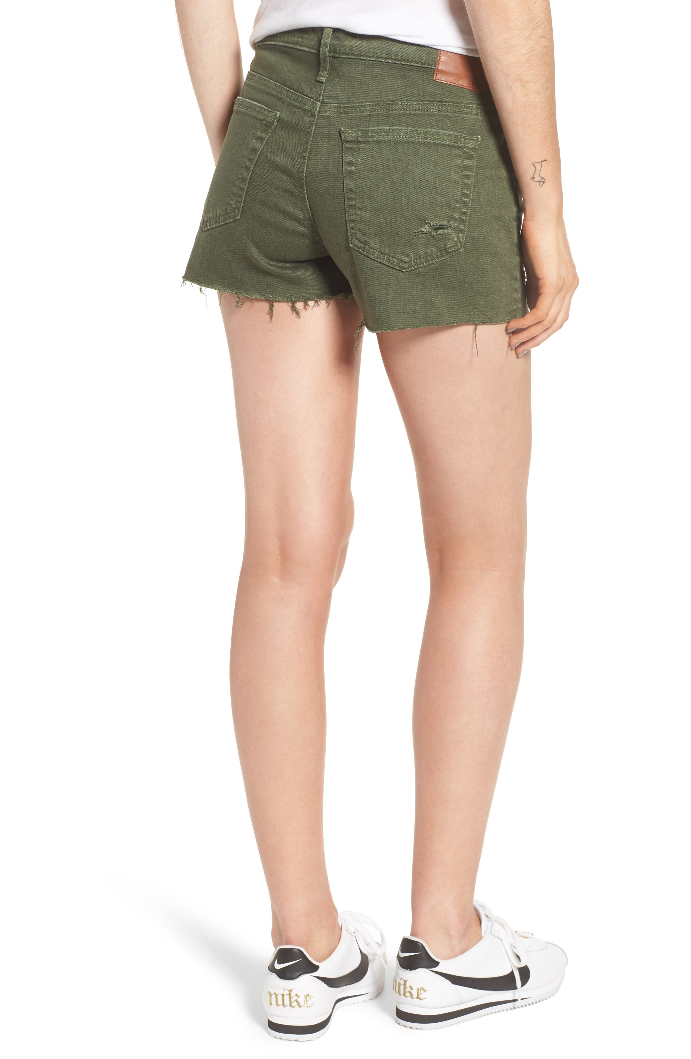 The Bryn High Waist Cutoff Denim Shorts,                             Alternate thumbnail 2, color,                             10 Years Remedy Desert Pine