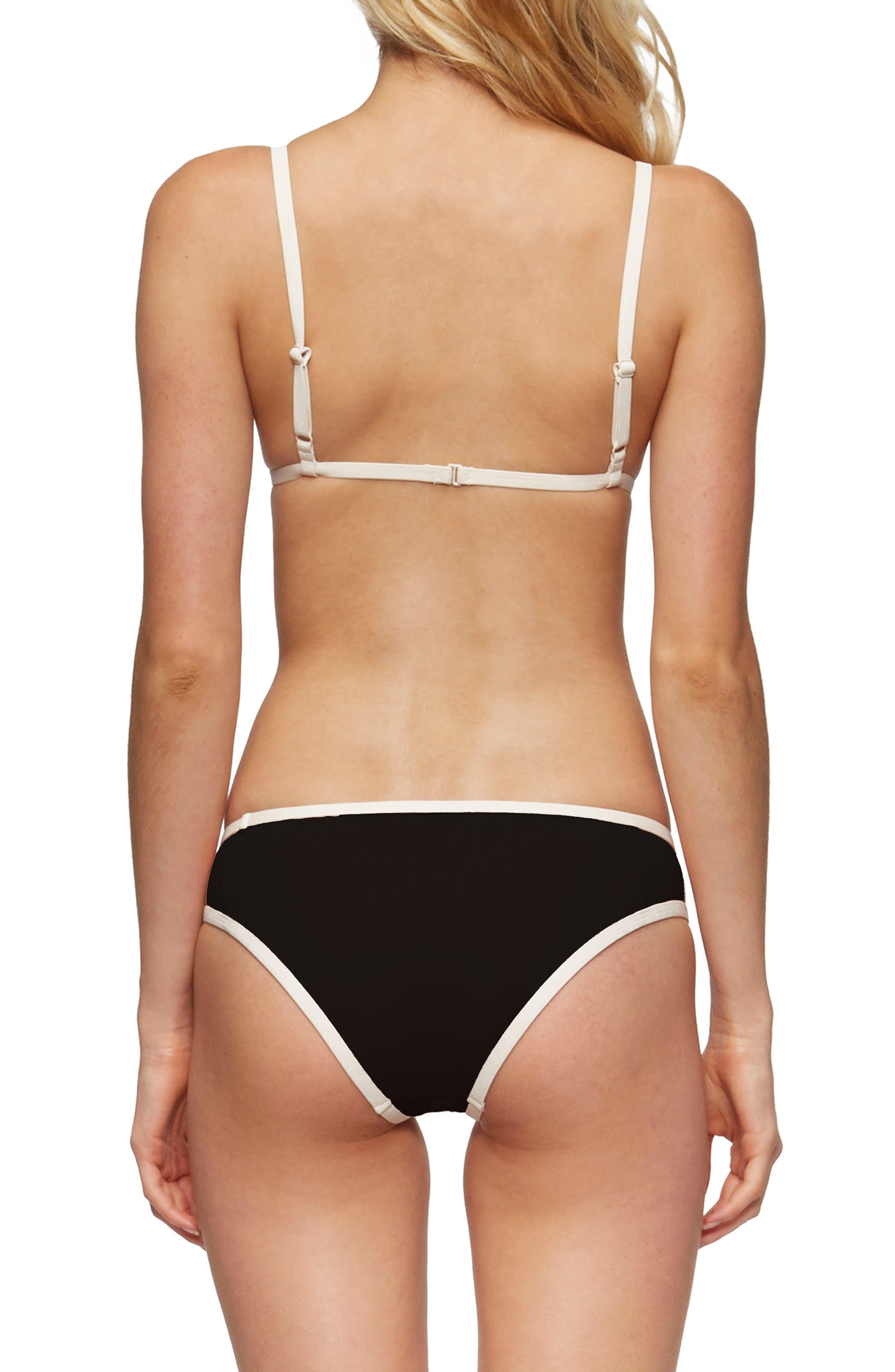 Jett Bikini Top,                             Alternate thumbnail 5, color,                             Black/ Tapioca