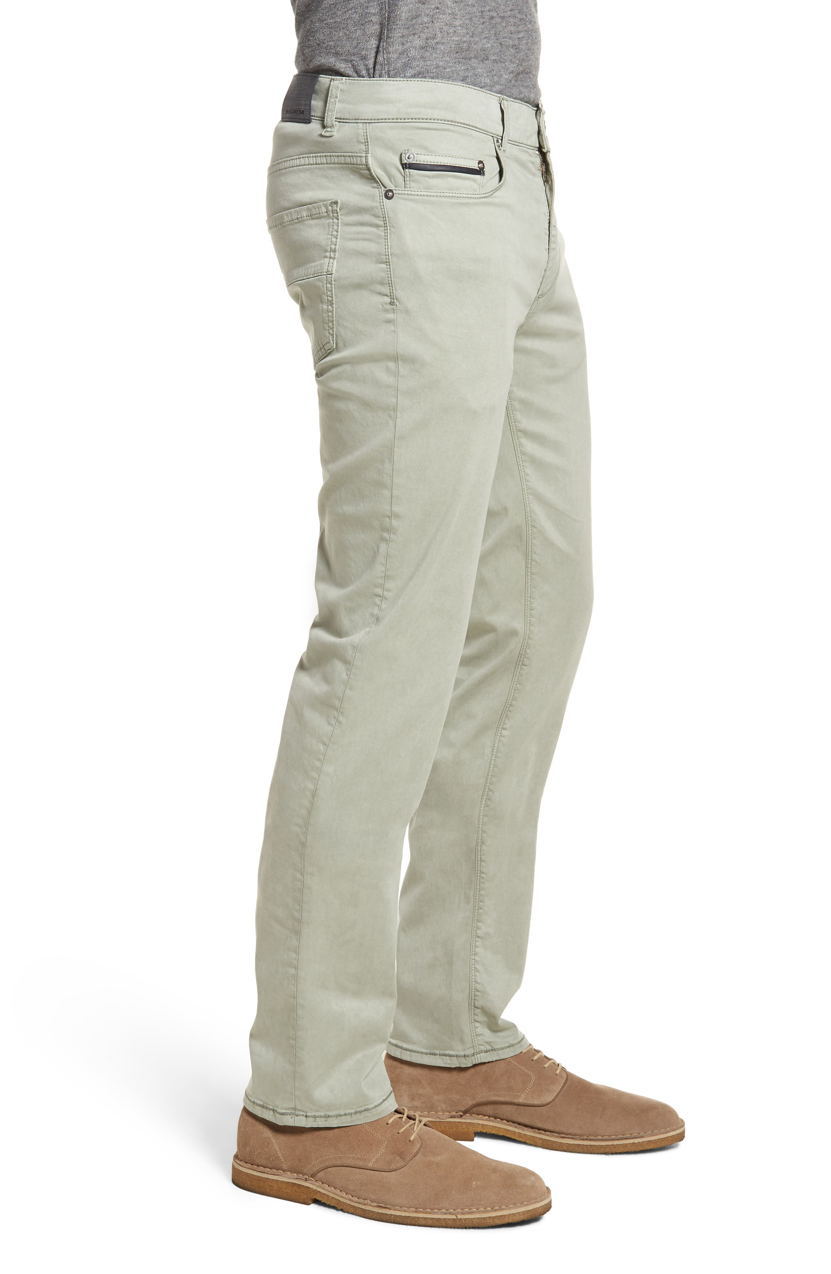 Slim Fit Washed Five-Pocket Pants,                             Alternate thumbnail 3, color,                             Khaki