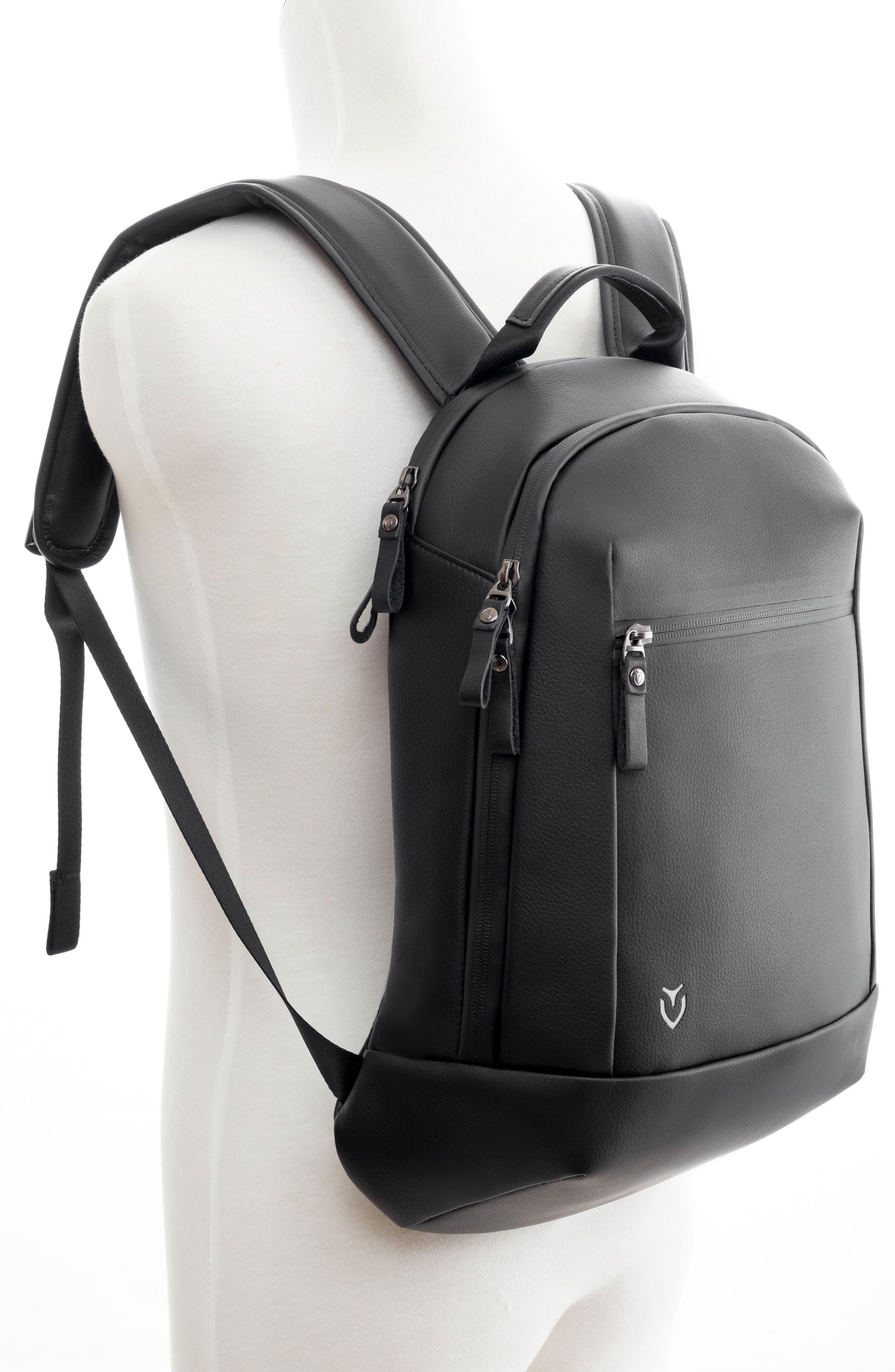 Mini Faux Leather Backpack,                             Alternate thumbnail 2, color,                             Matte/ Croc