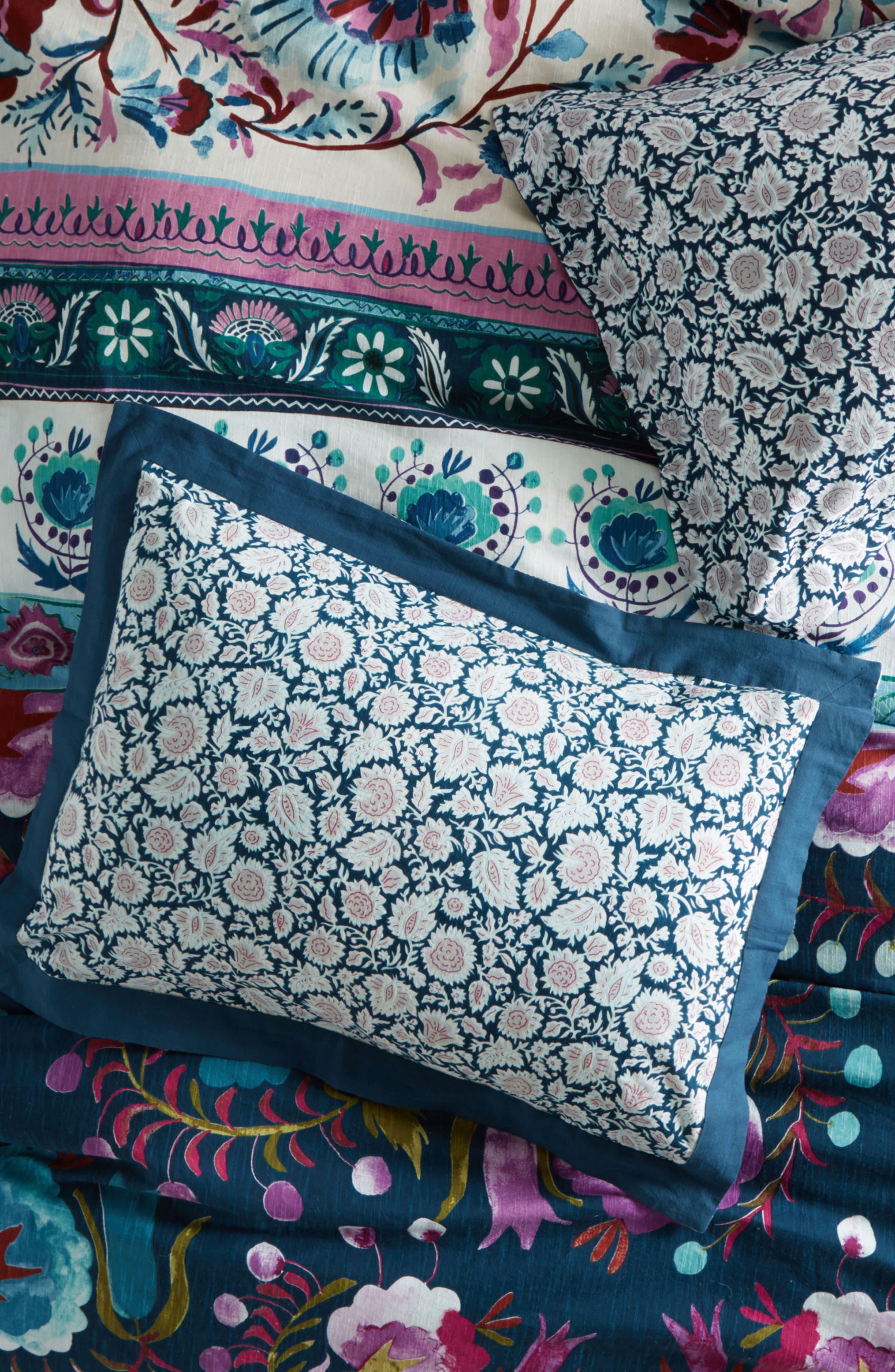 Meze Pillow Shams,                             Main thumbnail 1, color,                             Blue Combo