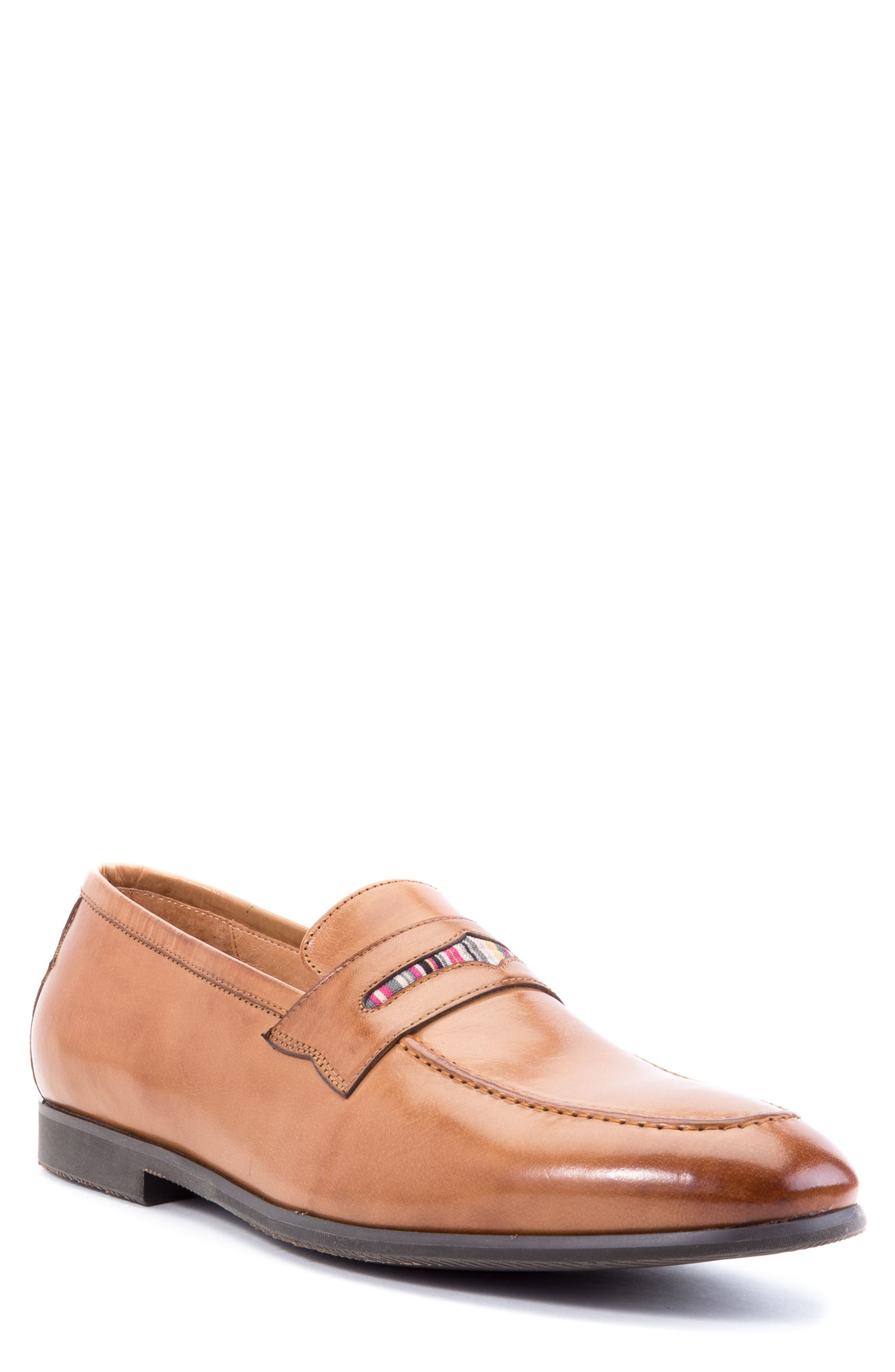 Hugo Penny Loafer,                             Main thumbnail 1, color,                             Cognac Leather