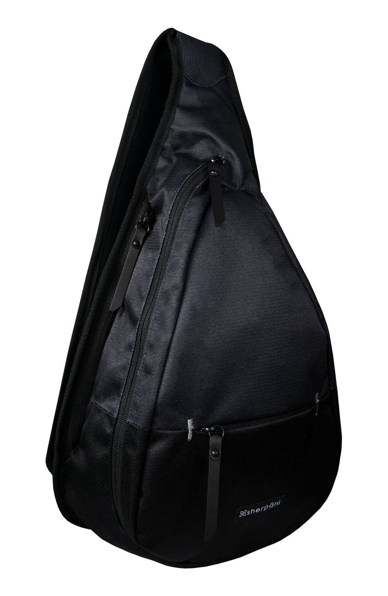Esprit RFID Sling Backpack,                             Alternate thumbnail 5, color,                             Raven