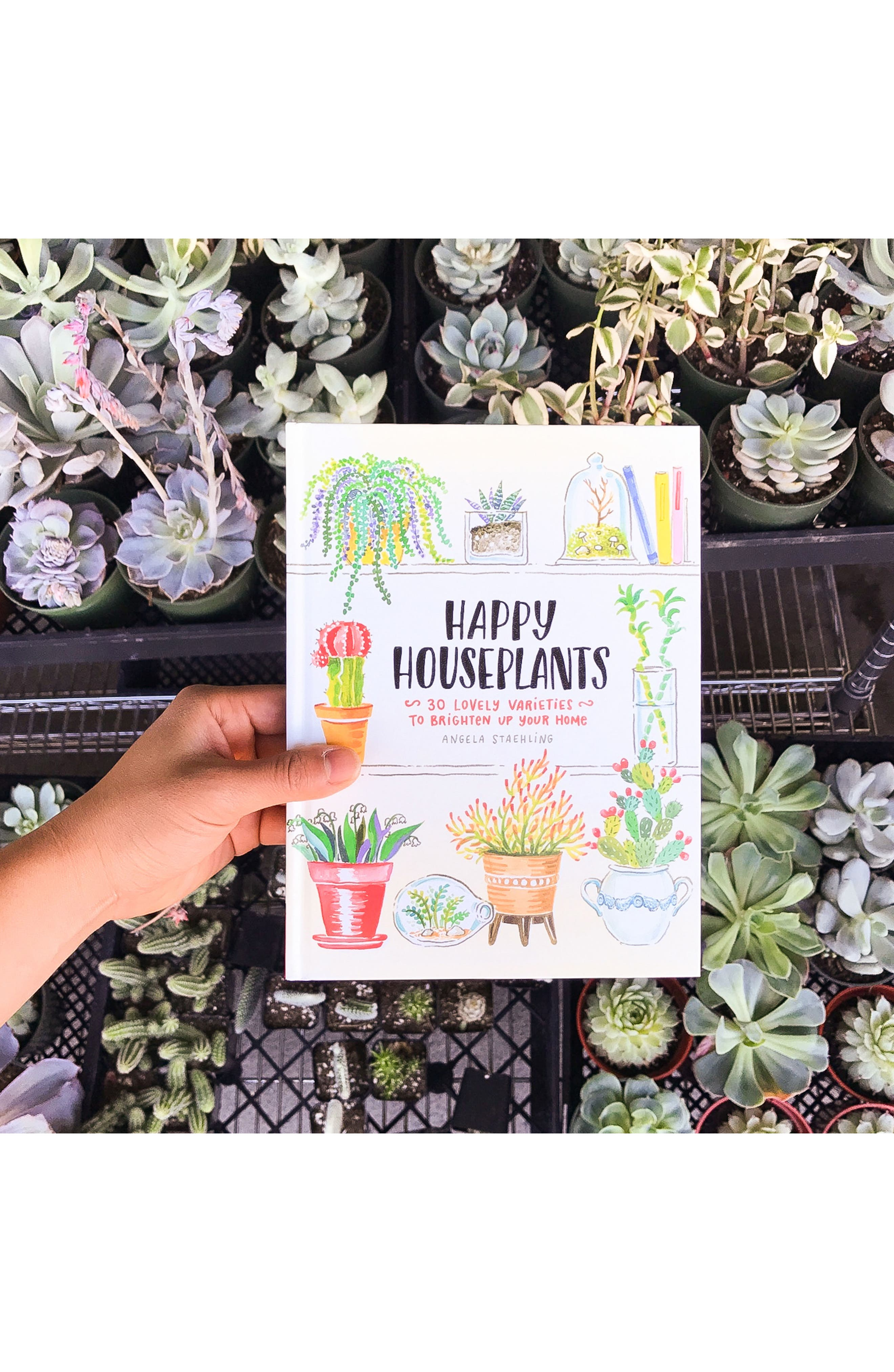 'Happy Houseplants: 30 Lovely Varieties to Brighten Up Your Home' Book,                             Alternate thumbnail 7, color,                             Green