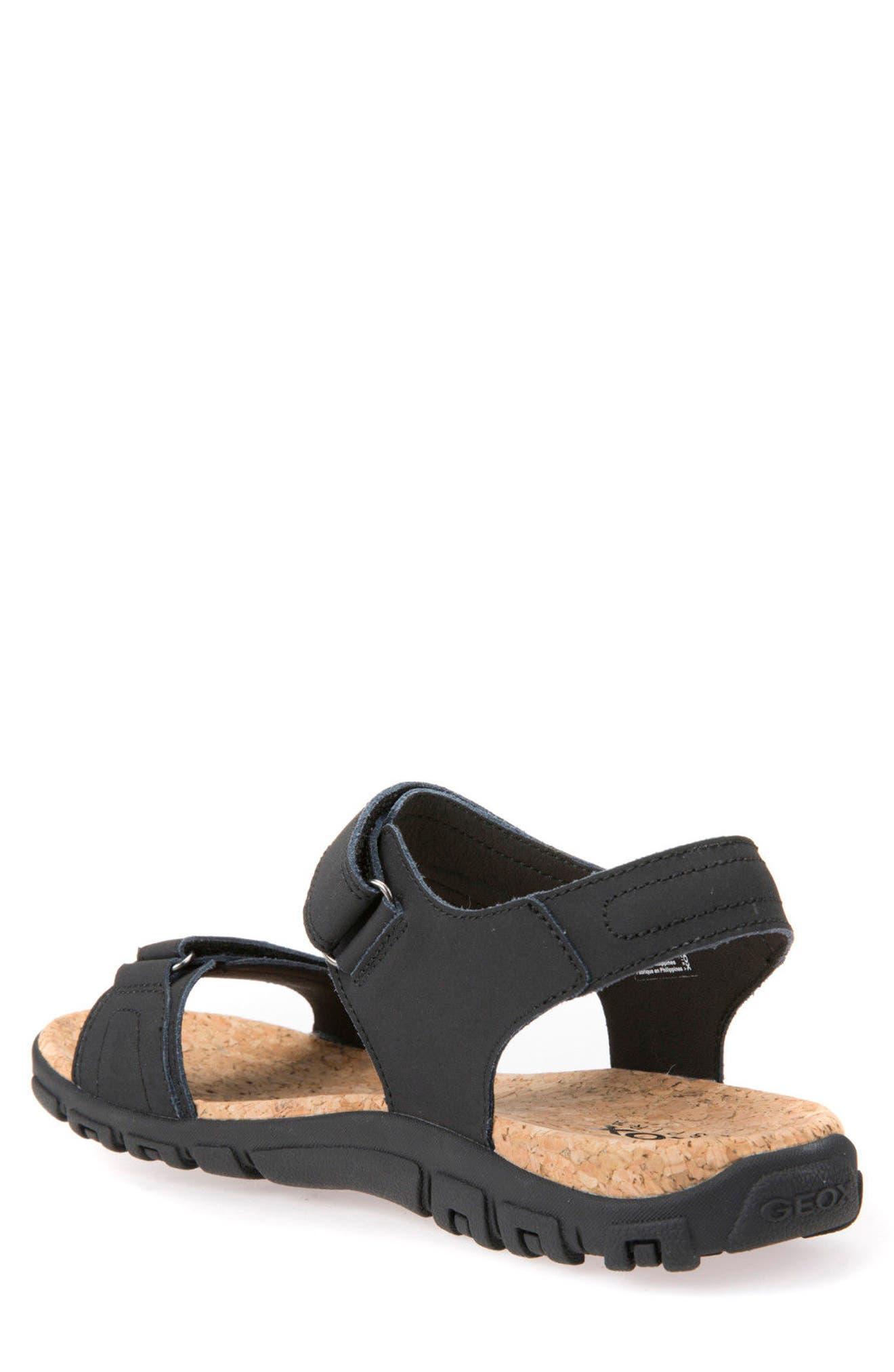 Strada 26 Sport Sandal,                             Alternate thumbnail 2, color,                             Black Leather