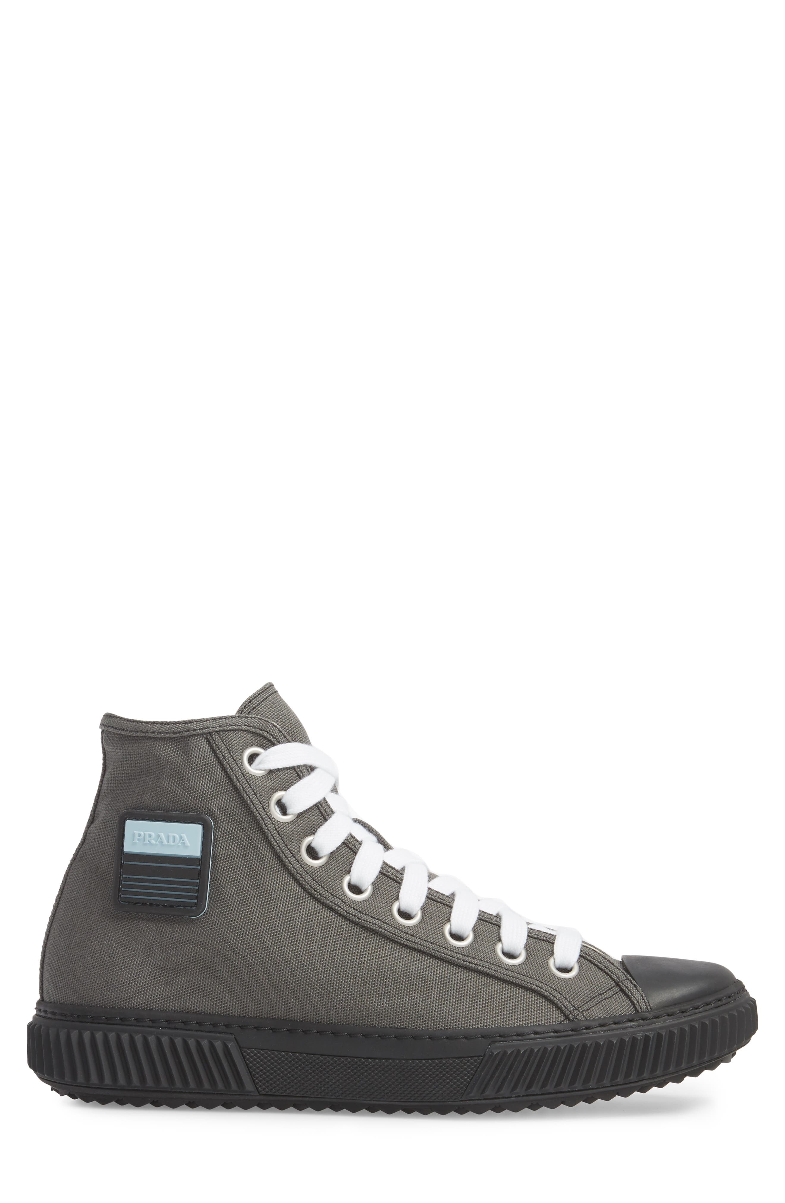 Cap Toe High Top Sneaker,                             Alternate thumbnail 3, color,                             Ardesia Nero