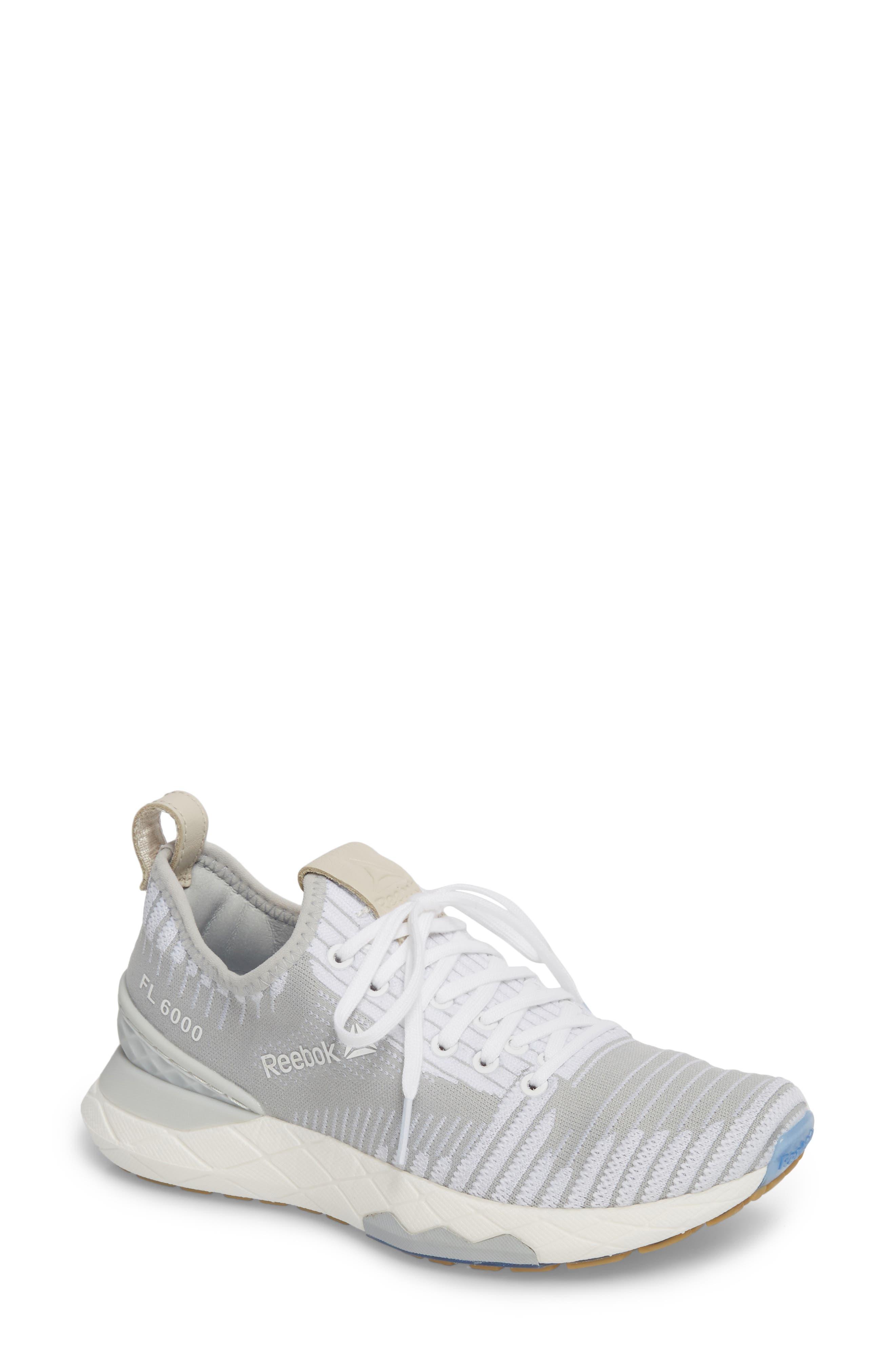 Floatride 6000 Running Shoe,                             Main thumbnail 1, color,                             White/ Skull Grey