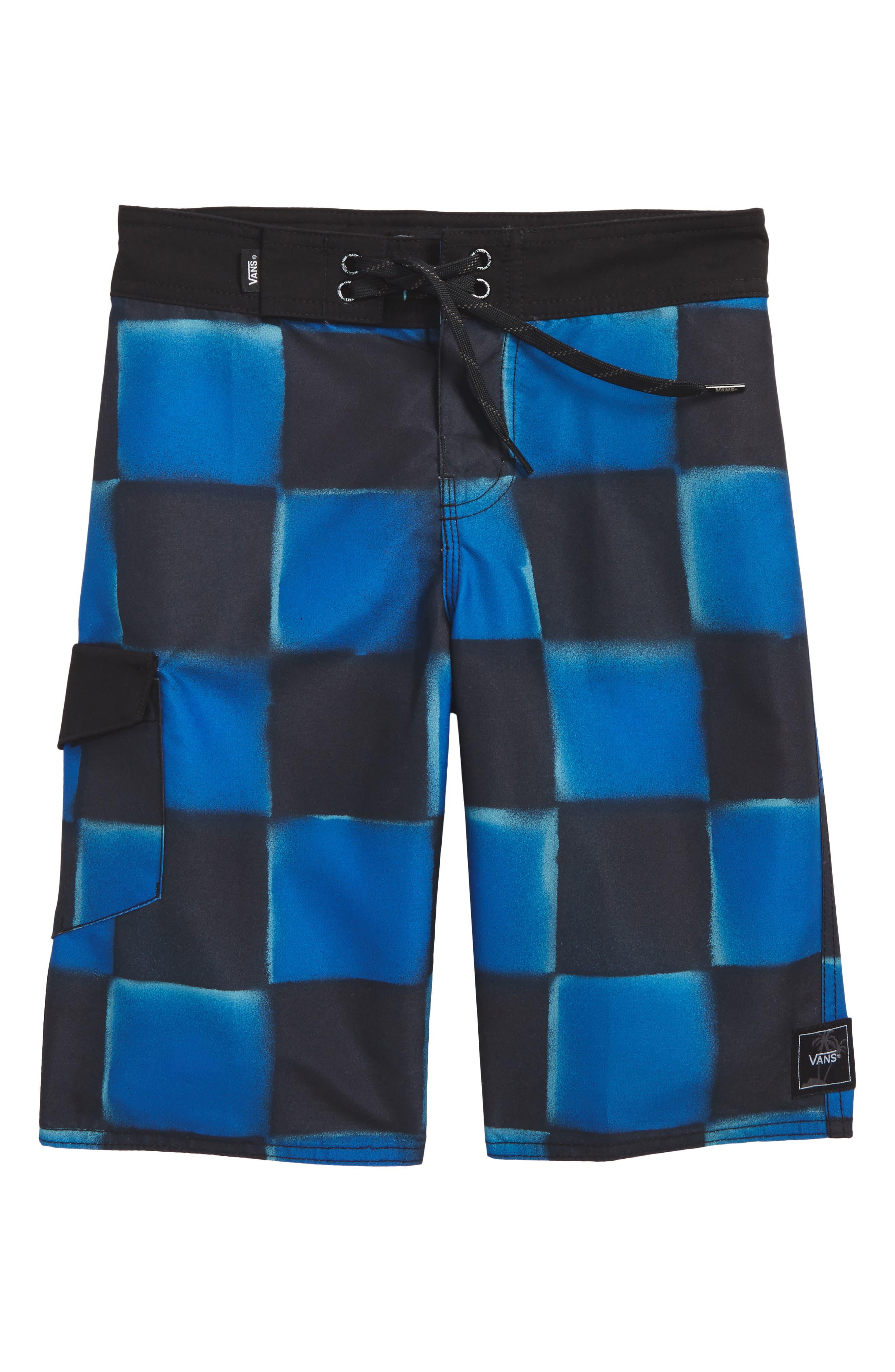 Check Yourself II Board Shorts,                         Main,                         color, Victoria Blue