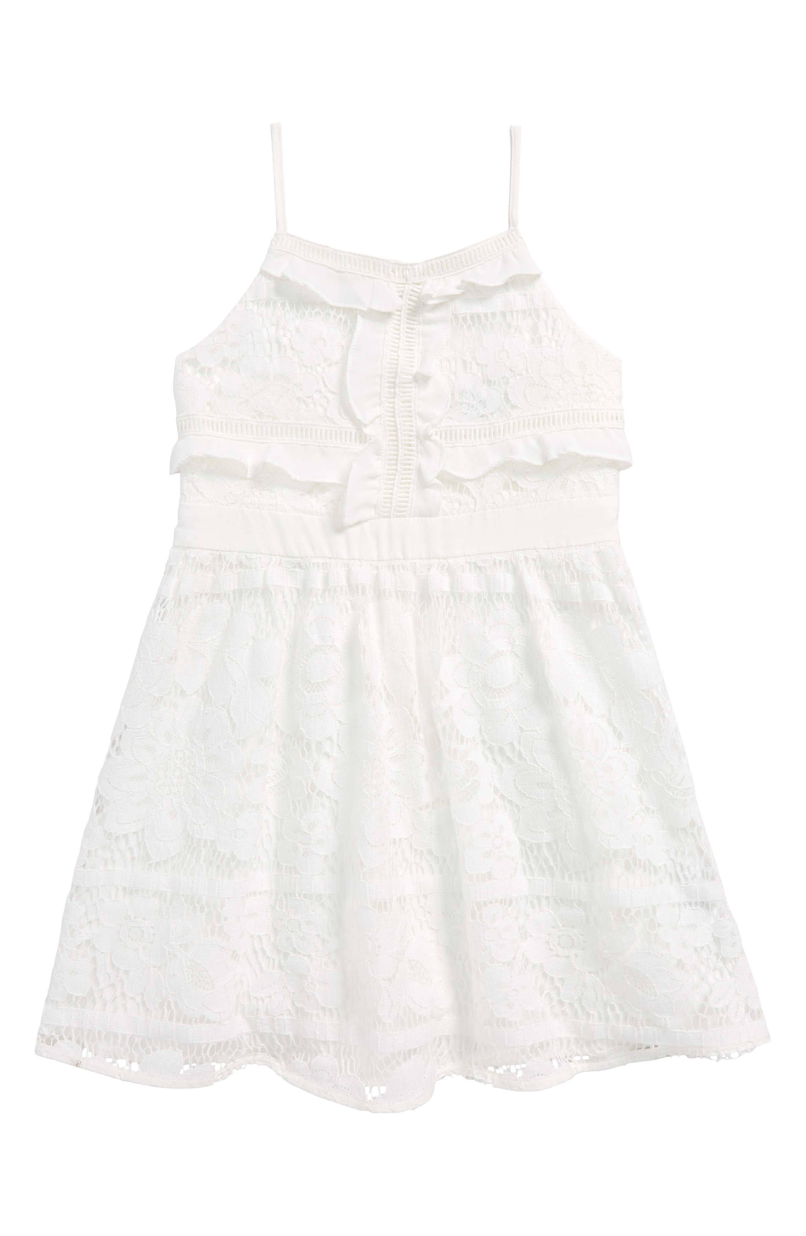 Vienna Lace Sundress,                             Main thumbnail 1, color,                             Orchid White