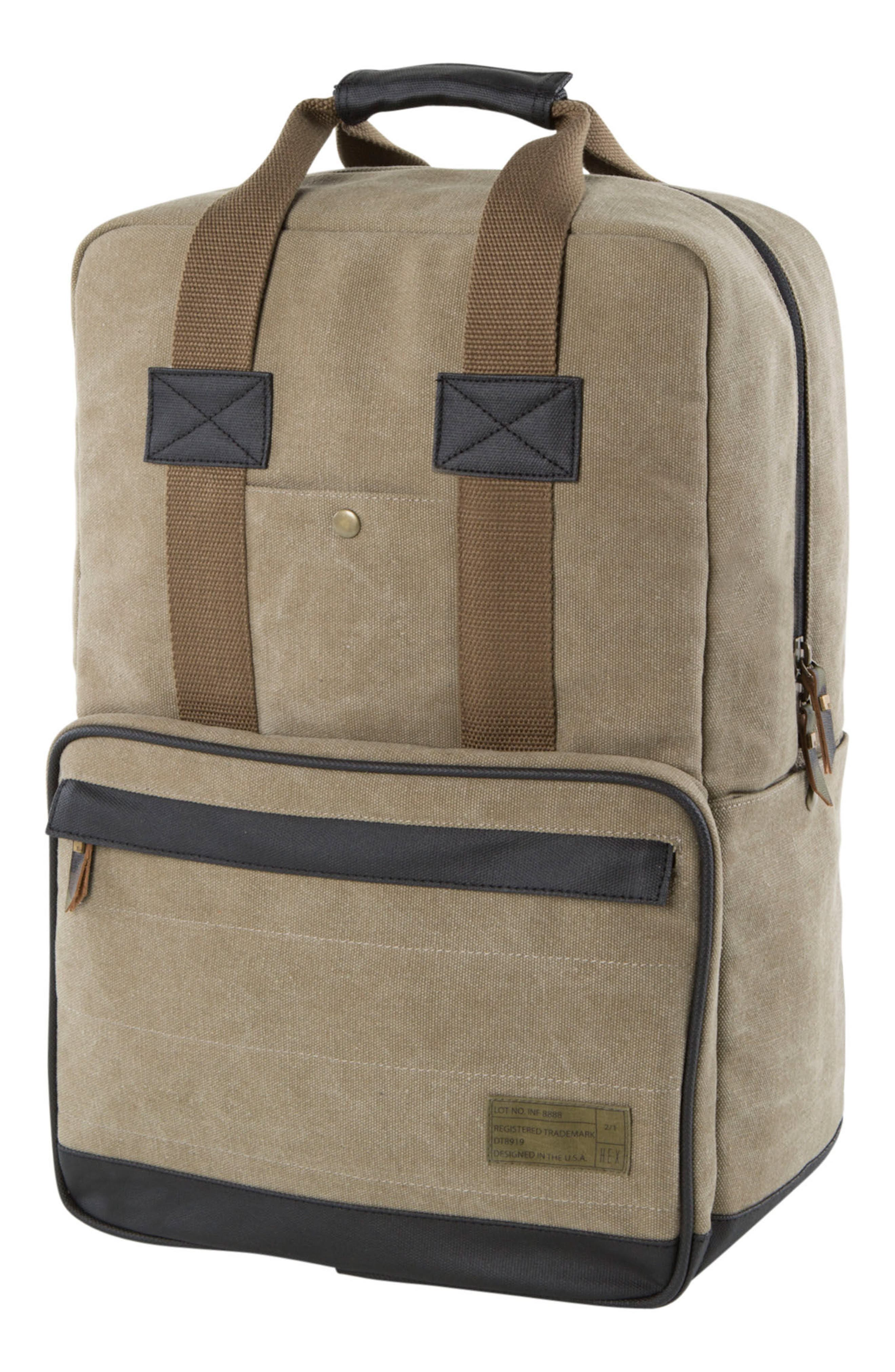 Supply Convertible Water Resistant Backpack,                         Main,                         color, Khaki