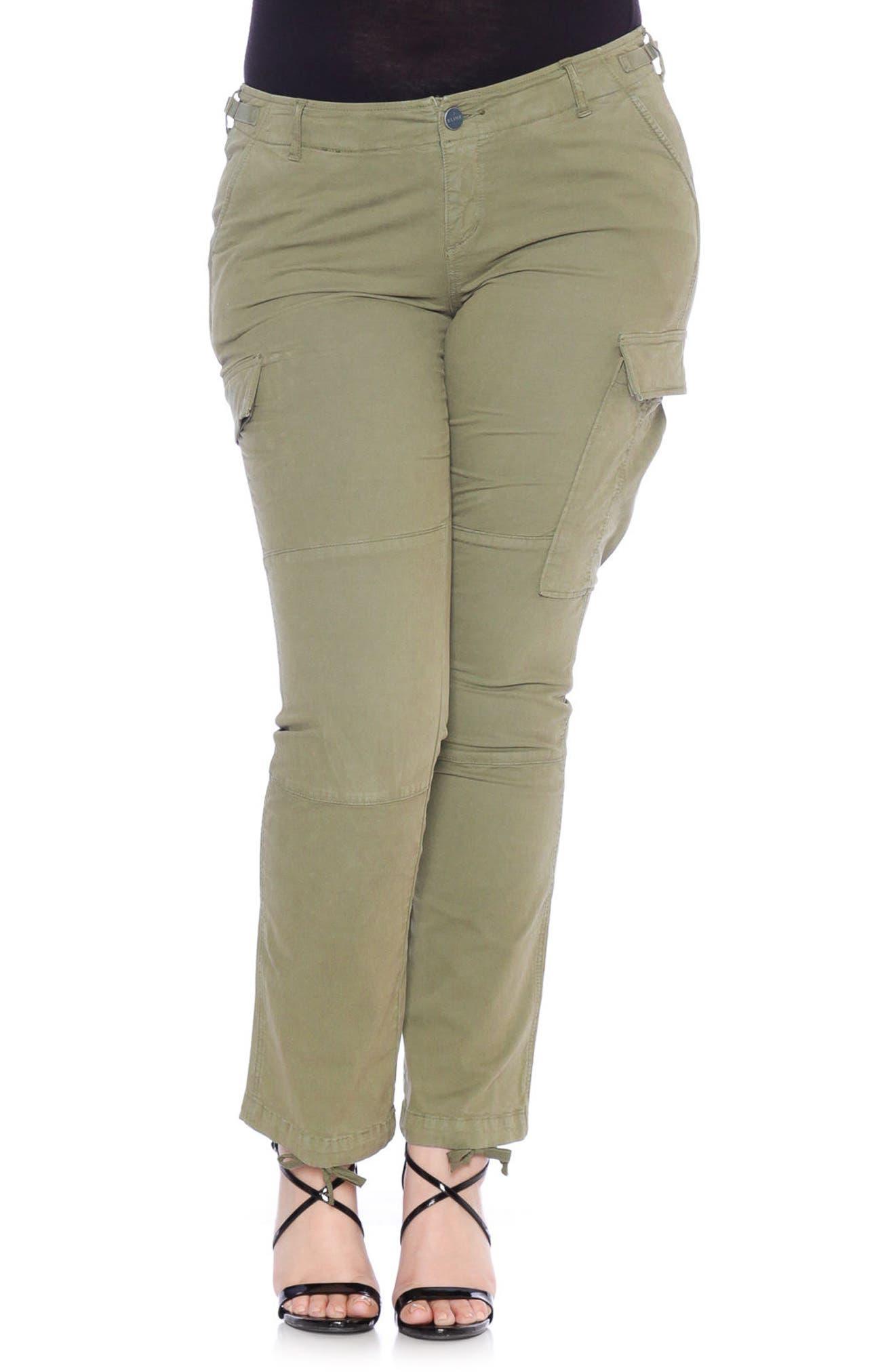 SLINK Jeans Twill Cargo Pants (Plus Size)
