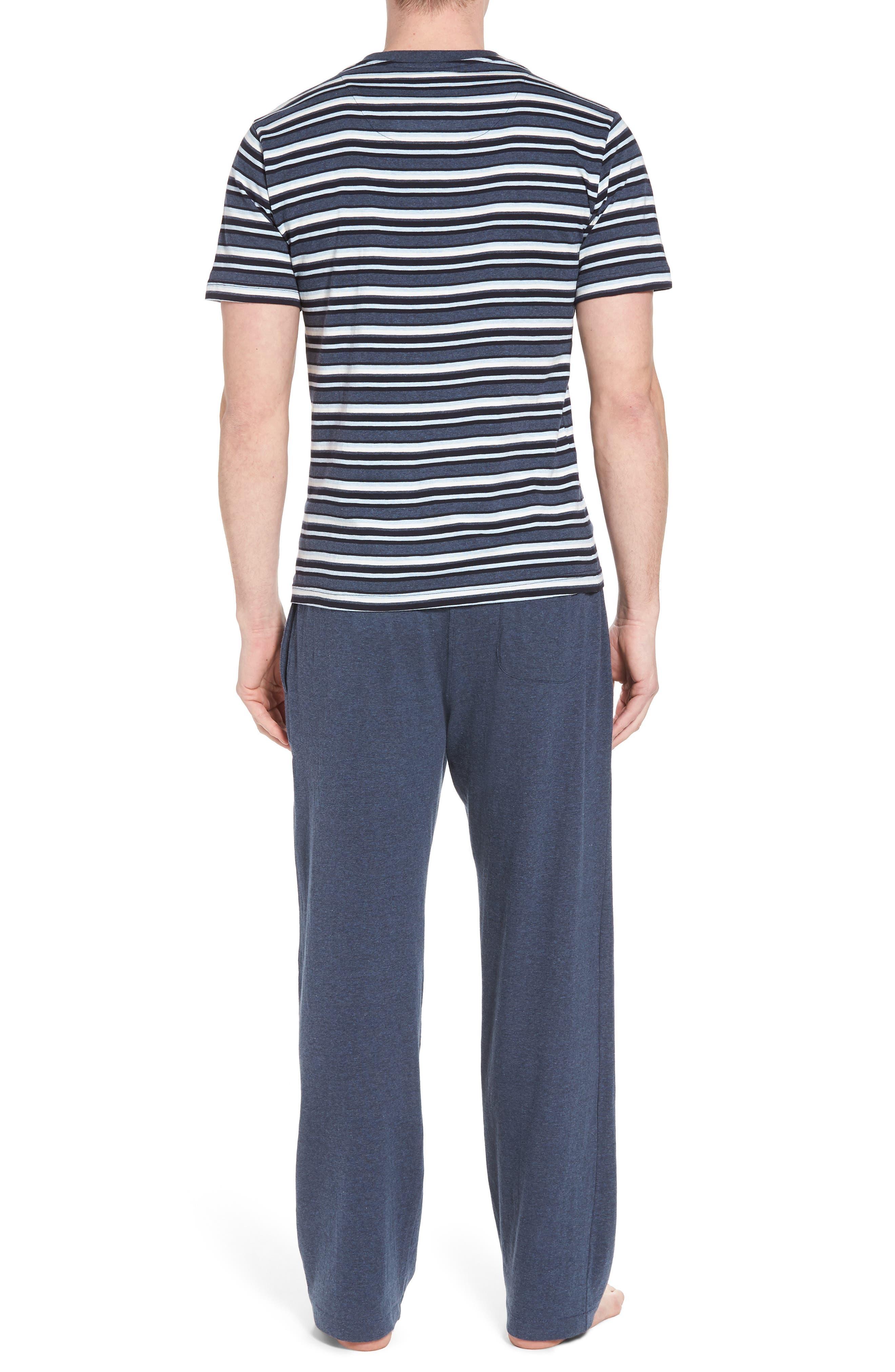 Majetic International Sleep On It Pajama Set,                             Alternate thumbnail 2, color,                             Alfresco Stripe