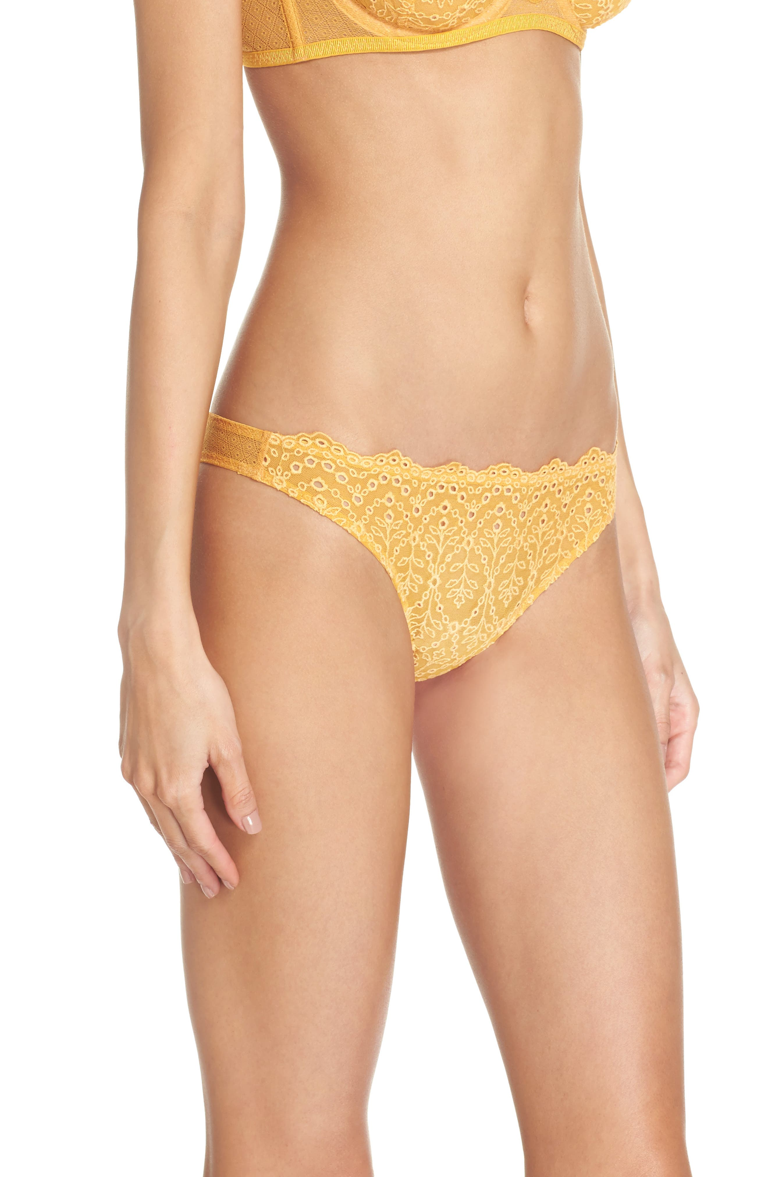 Intimately FP St. Tropez Tanga Panties,                             Alternate thumbnail 3, color,                             Yellow