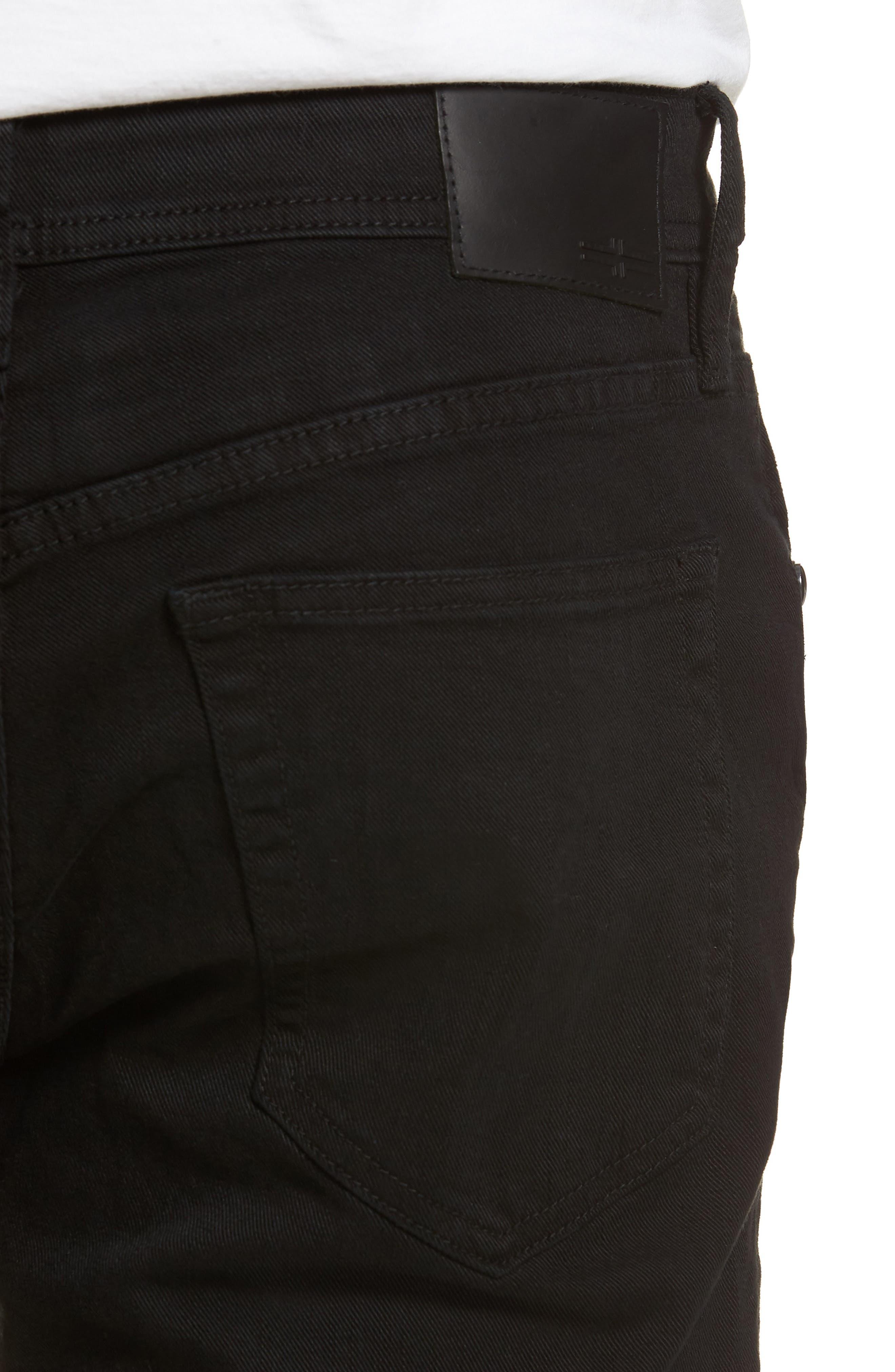 Jeans Co. Kingston Slim Straight Leg Jeans,                             Alternate thumbnail 4, color,                             Black Rinse