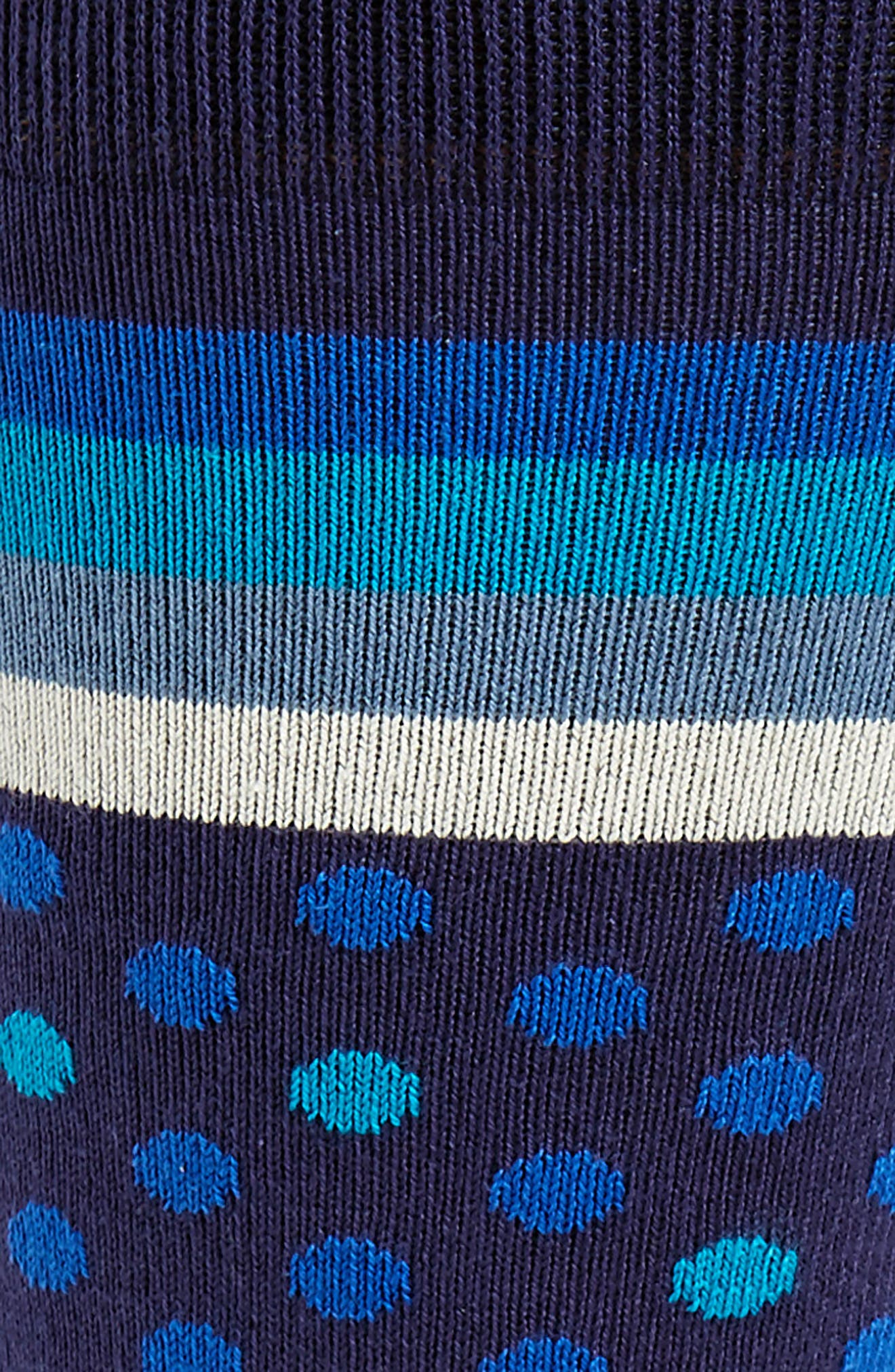 Dot & Stripe Socks,                             Alternate thumbnail 2, color,                             Blue