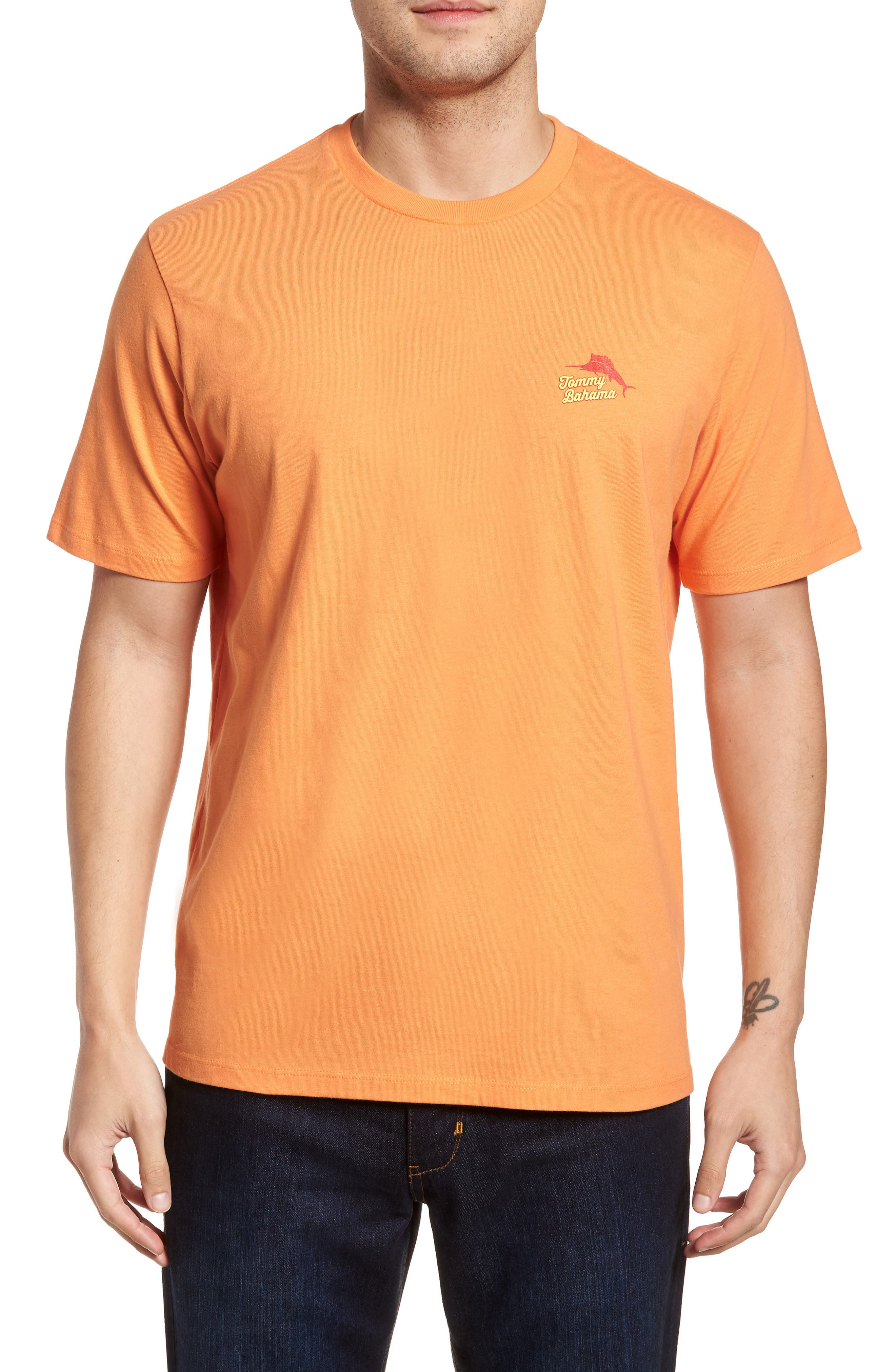 Ryes to the Occasion T-Shirt,                             Main thumbnail 1, color,                             Bright Apricot