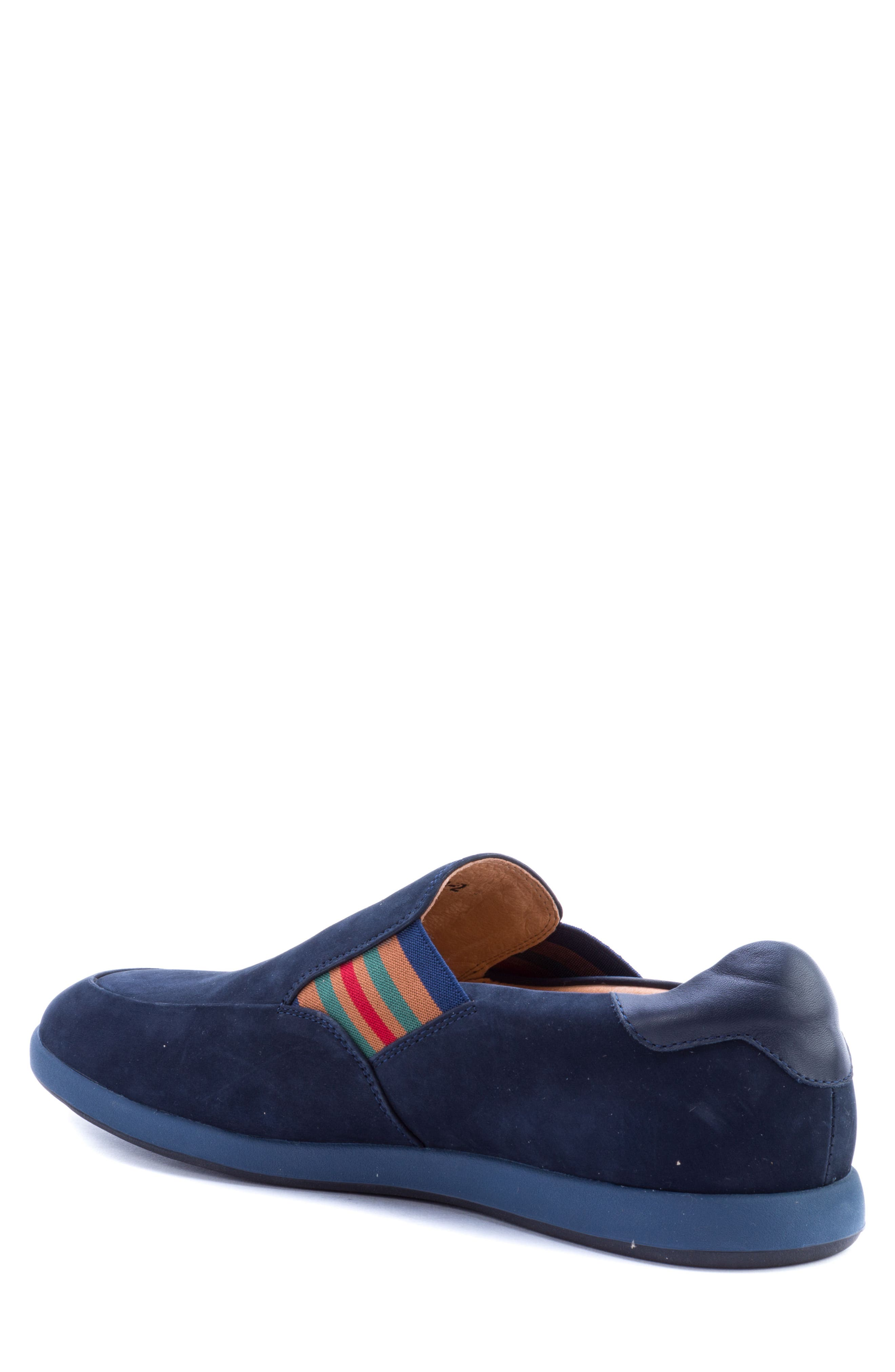 Avenida Striped Slip-On,                             Alternate thumbnail 2, color,                             Navy Suede