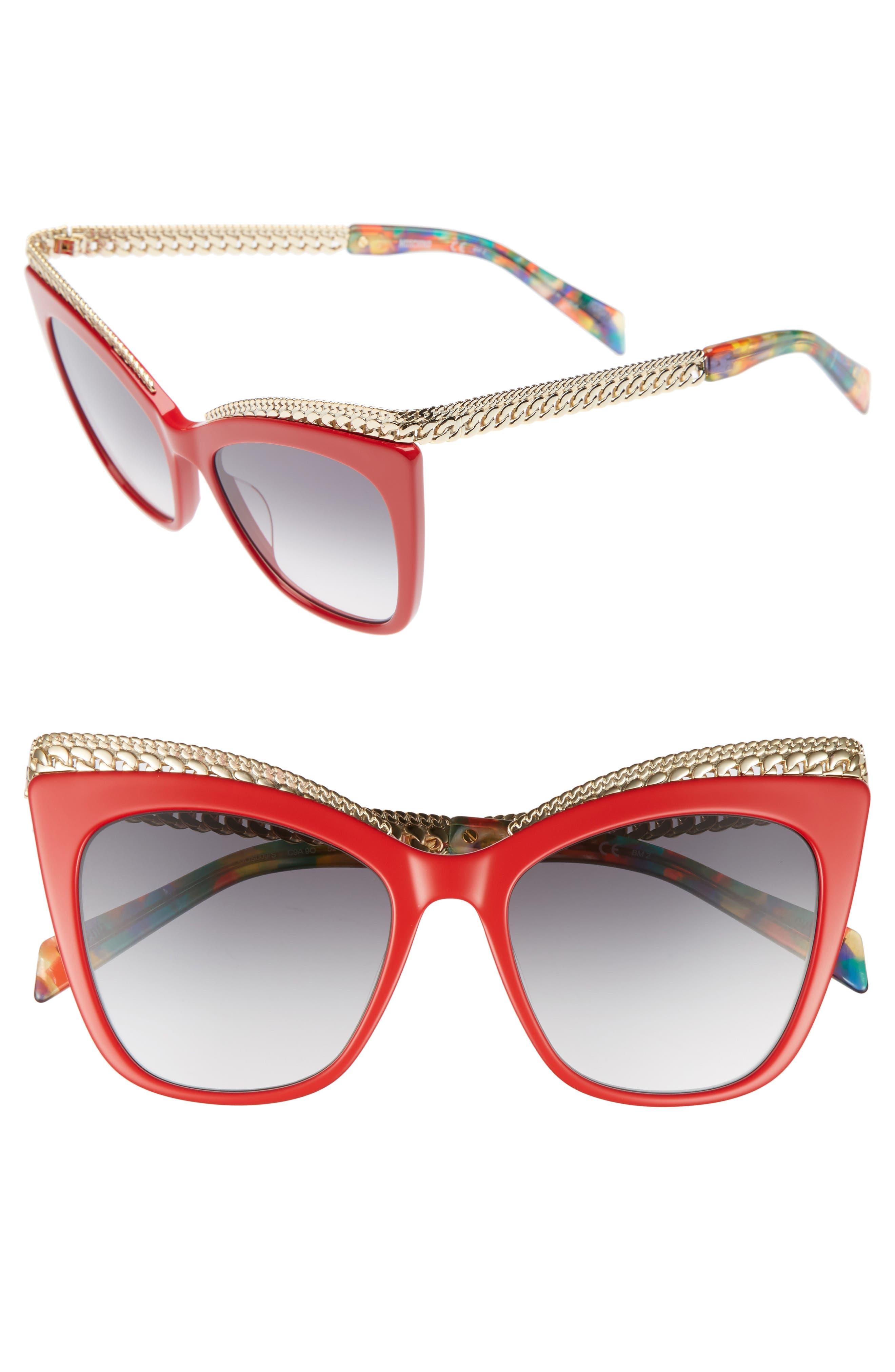 Moschino 52mm Cat's Eye Sunglasses