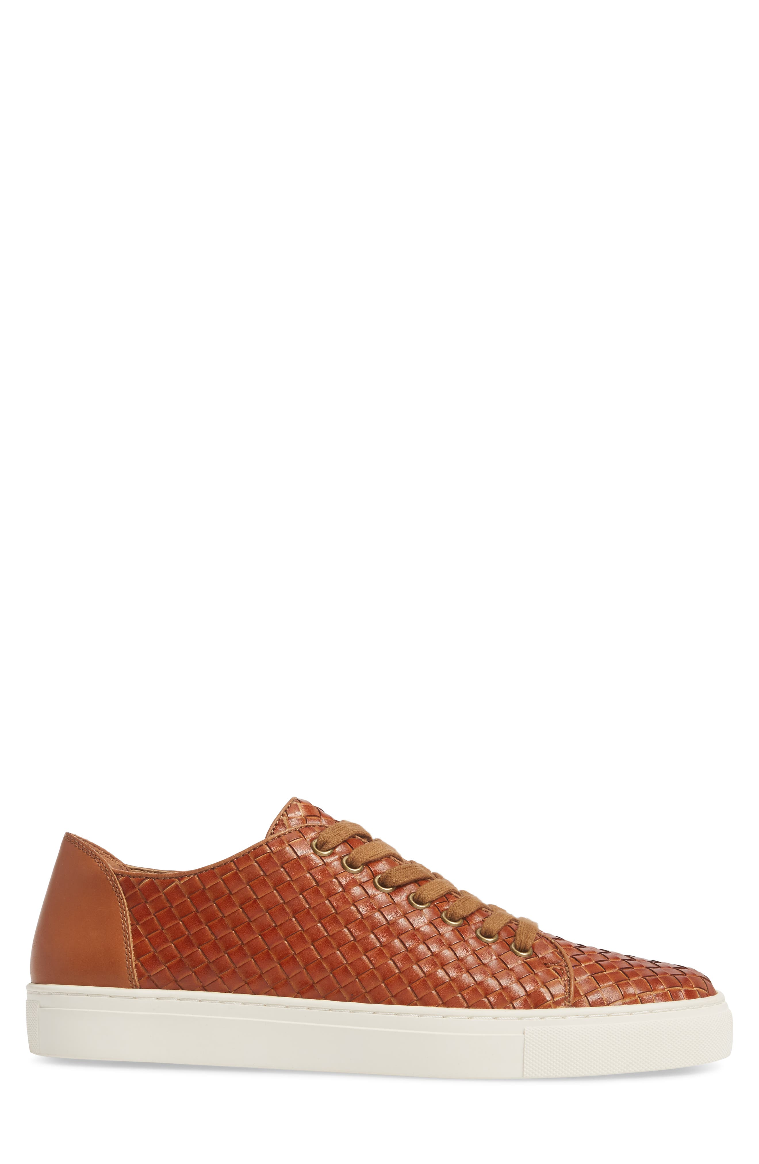 Alto Woven Low Top Sneaker,                             Alternate thumbnail 3, color,                             Saddle Leather
