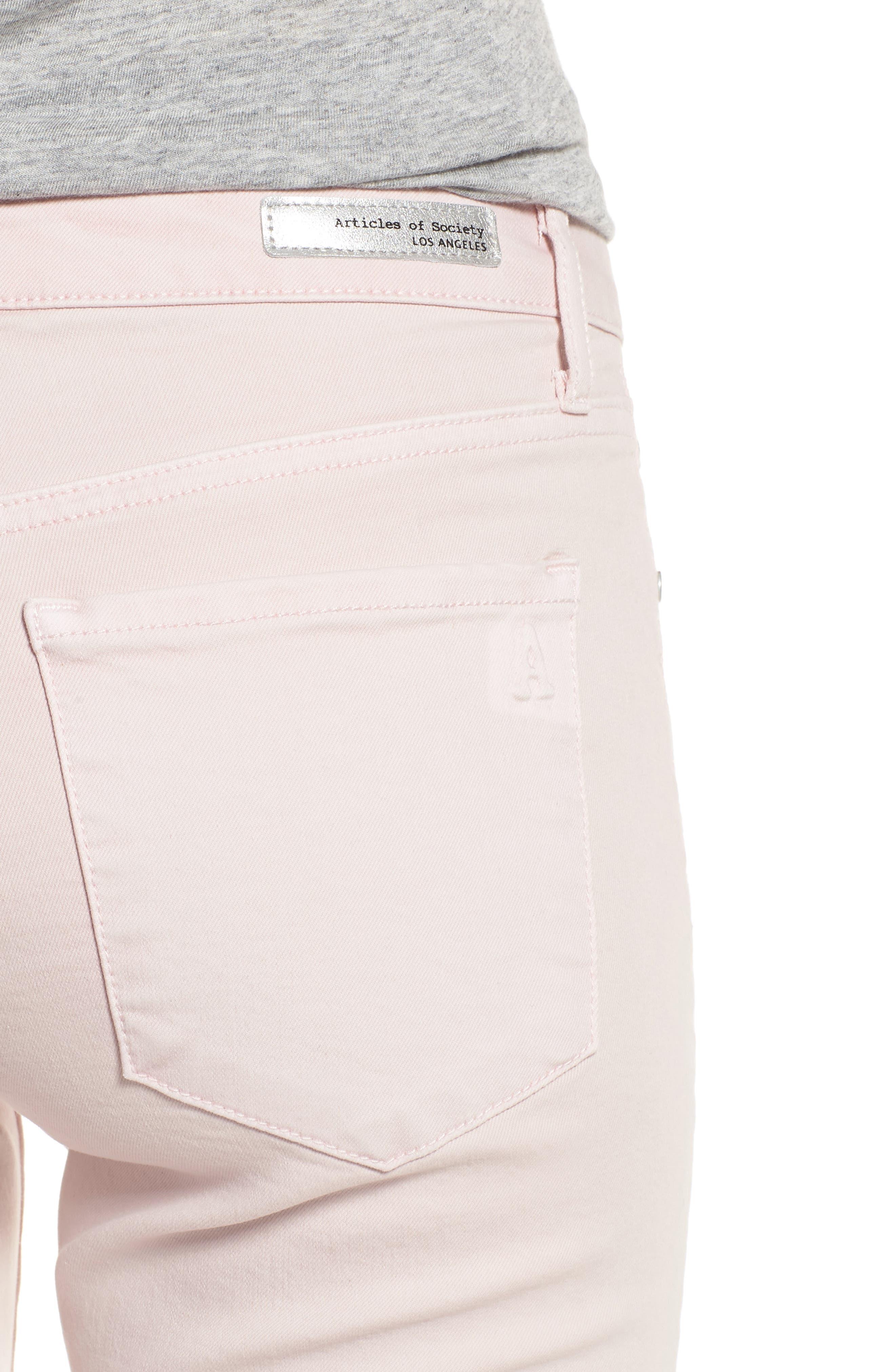Carly Raw Hem Ankle Skinny Jeans,                             Alternate thumbnail 4, color,                             Dana Point