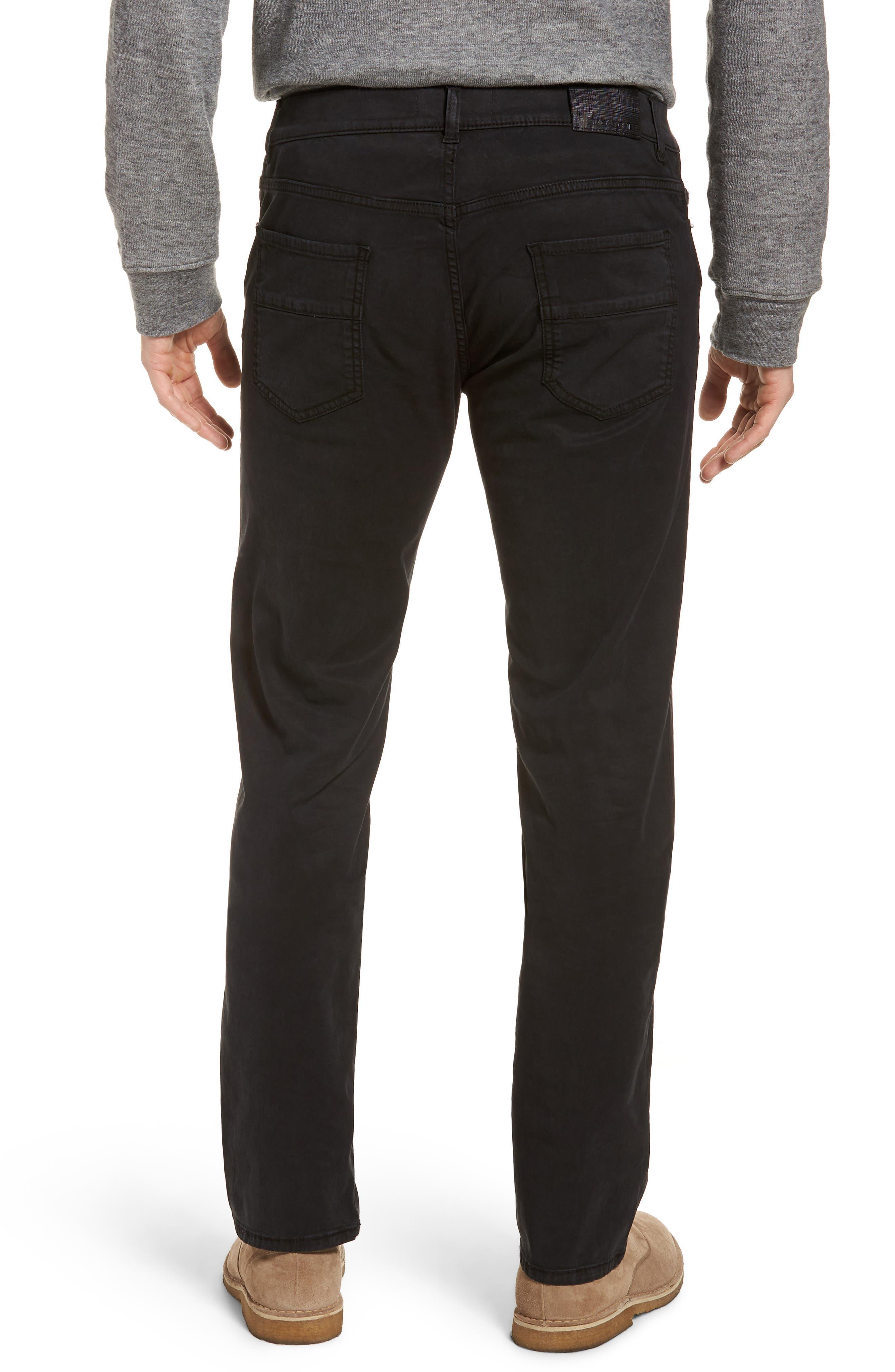 Slim Fit Washed Five-Pocket Pants,                             Alternate thumbnail 2, color,                             Black