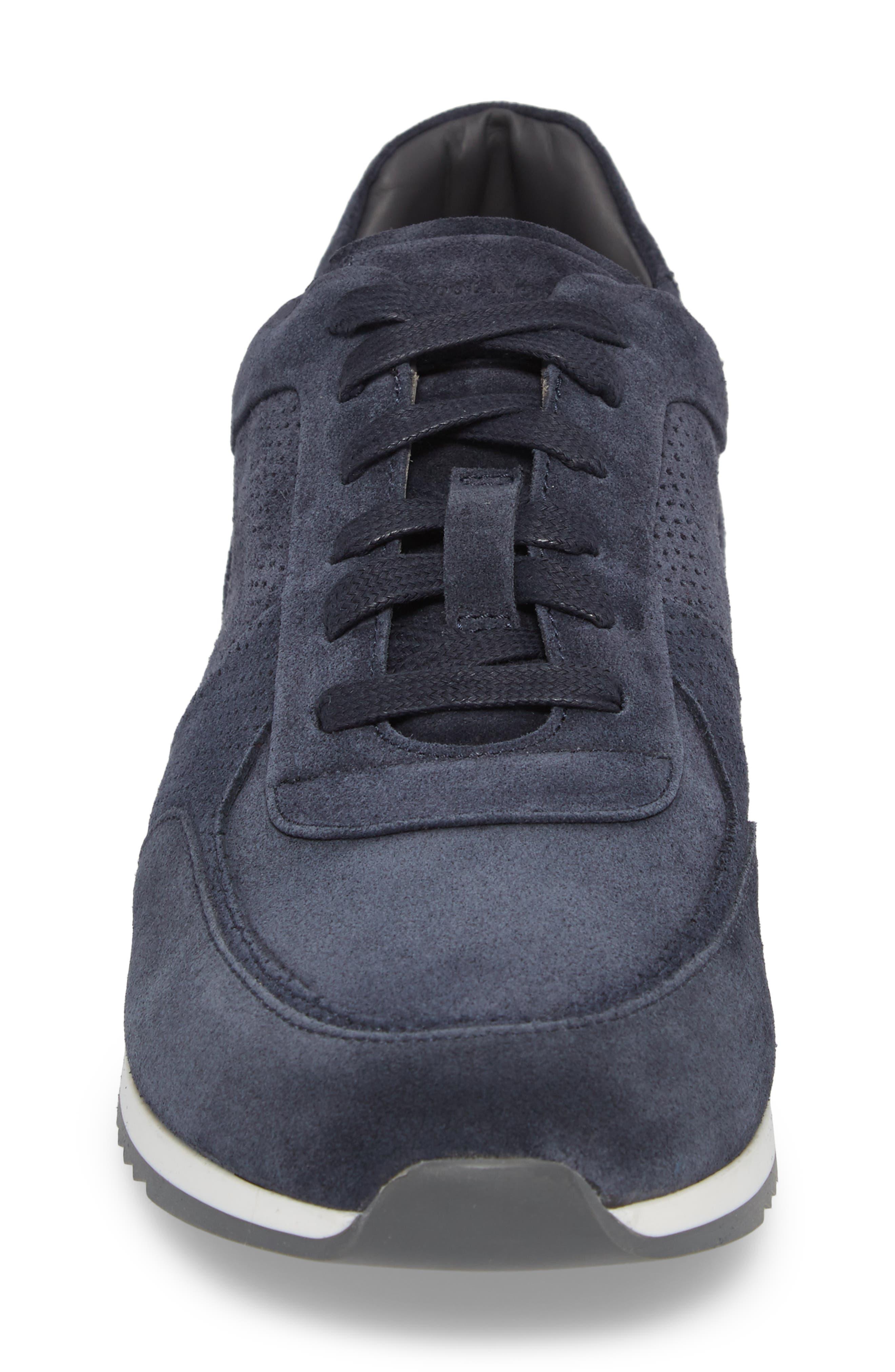 Fordham Low Top Sneaker,                             Alternate thumbnail 4, color,                             Space Blue Suede