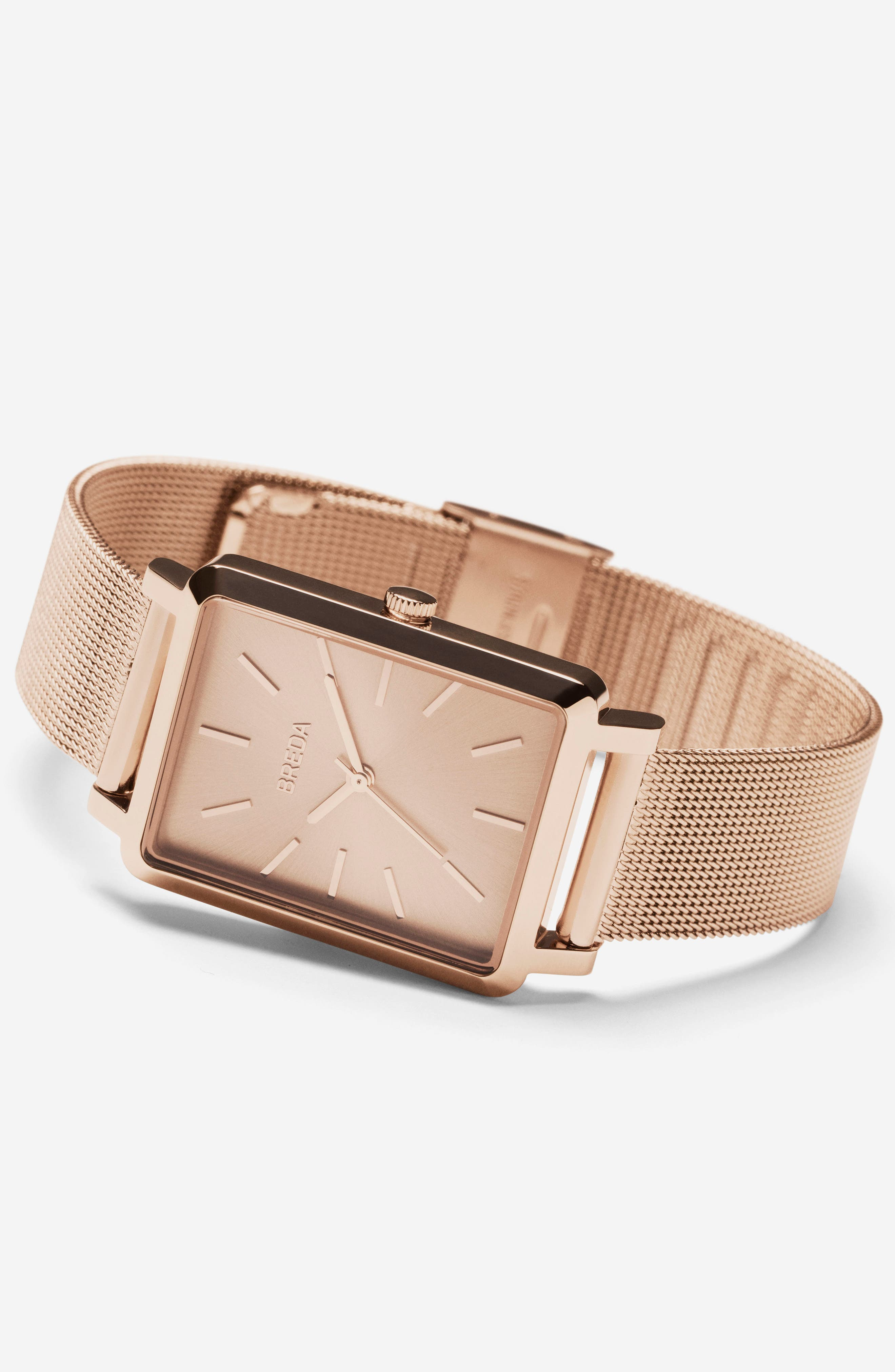 Baer Mesh Strap Watch, 26mm,                             Alternate thumbnail 2, color,                             Rose Gold