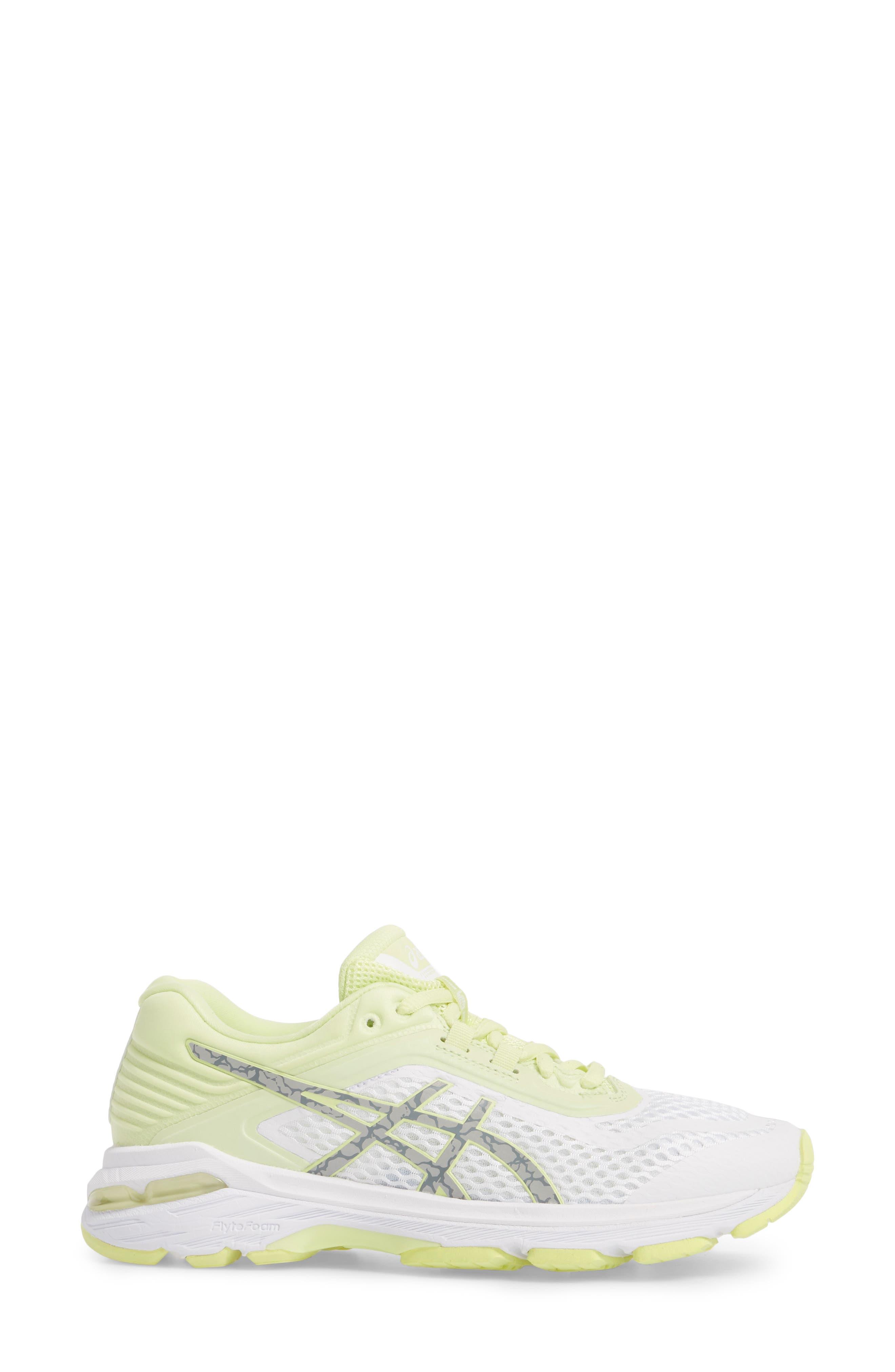 GT-2000 6 Running Shoe,                             Alternate thumbnail 3, color,                             White/ Silver/ Limelight