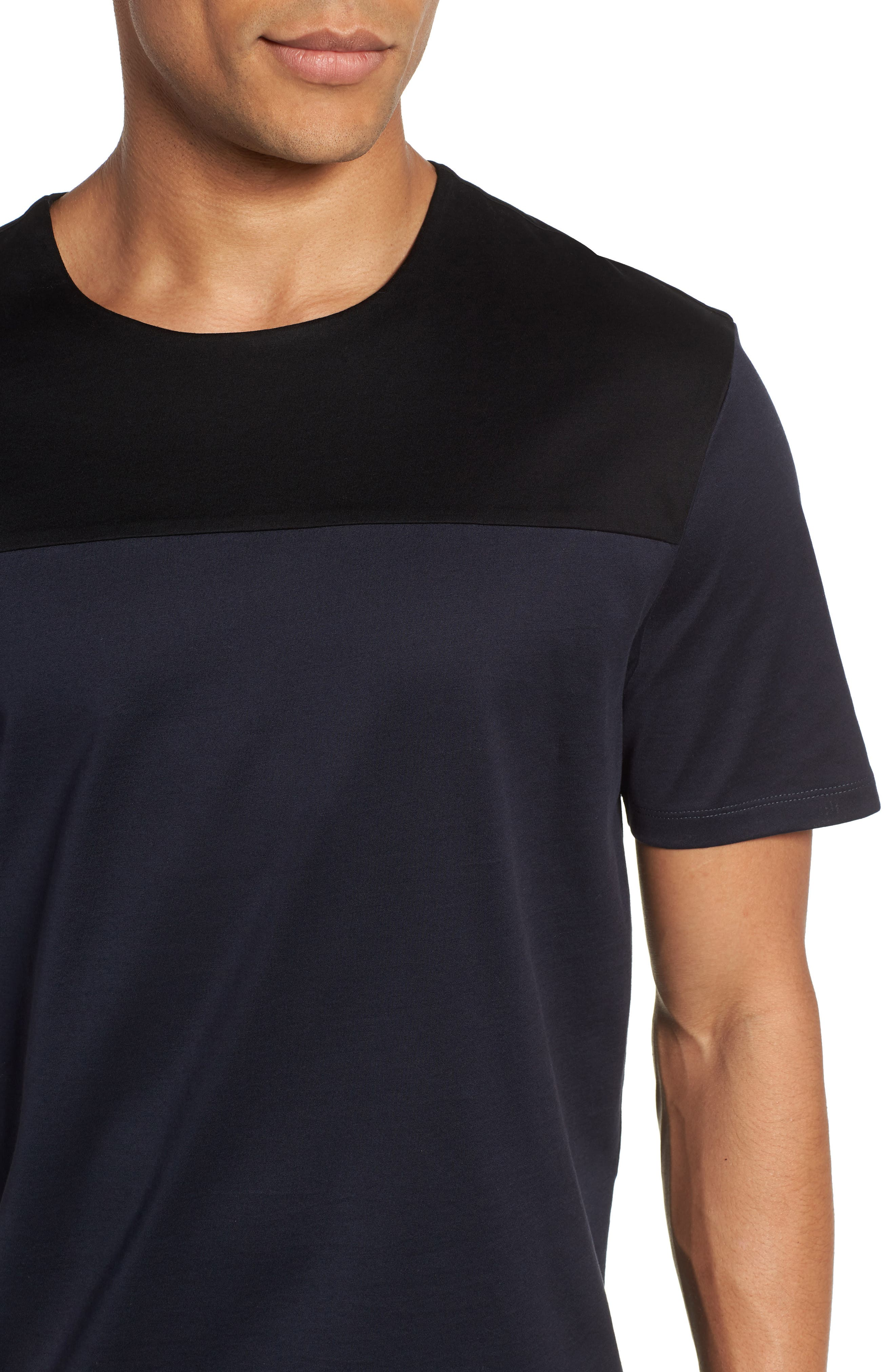 Block Crewneck T-Shirt,                             Alternate thumbnail 4, color,                             Navy Night Block