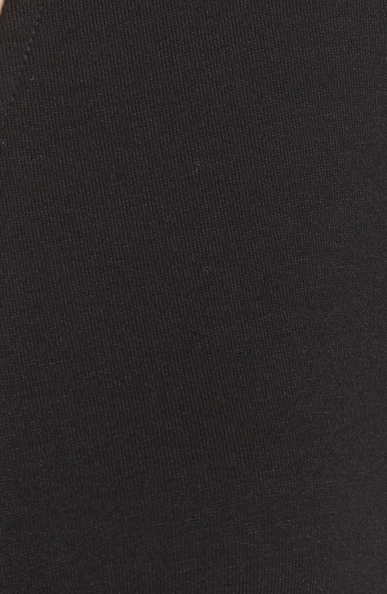 Show It Off Tassel Crop Top,                             Alternate thumbnail 6, color,                             Black
