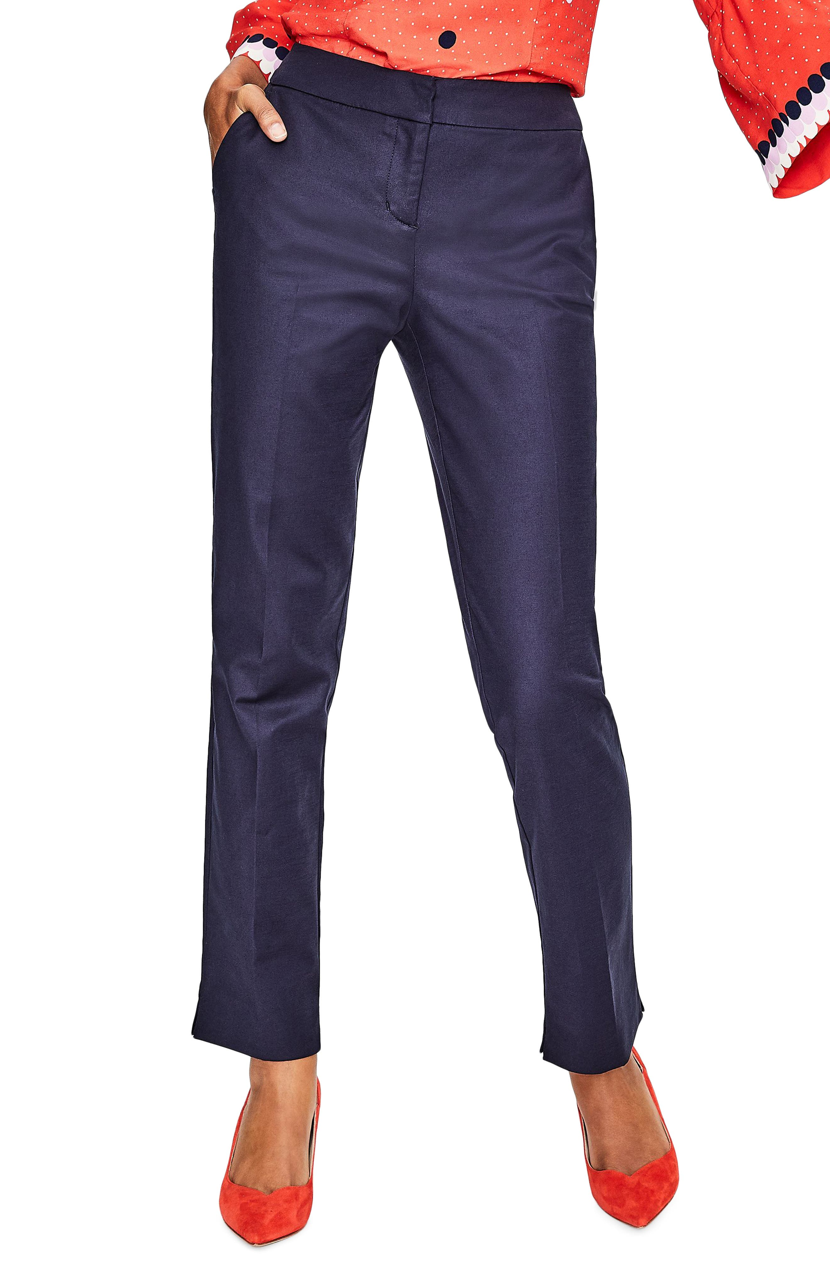 Alternate Image 1 Selected - Boden Richmond Stretch Cotton Trousers