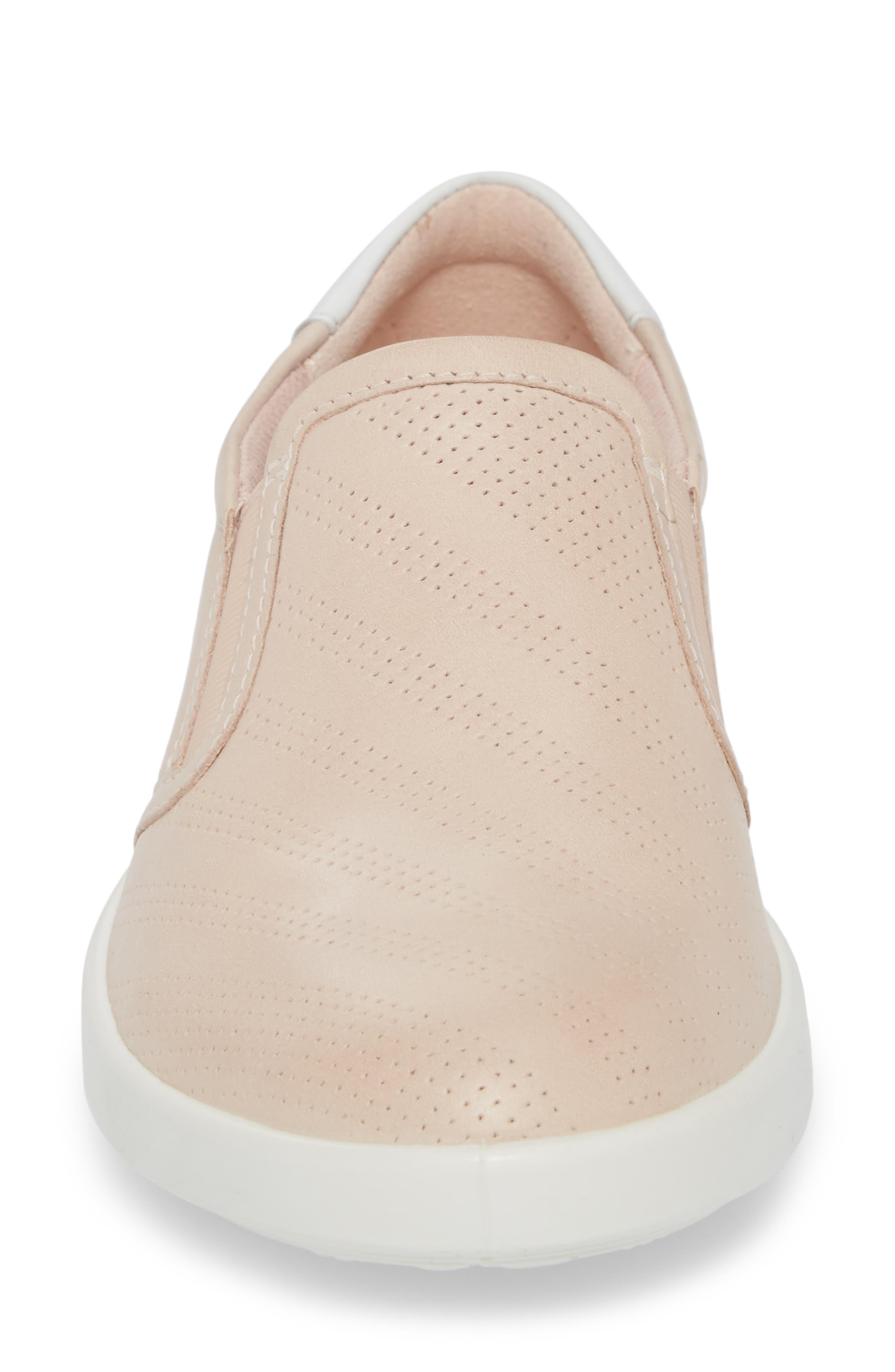 'Aimee' Slip-On Sneaker,                             Alternate thumbnail 4, color,                             Rose Dust Leather