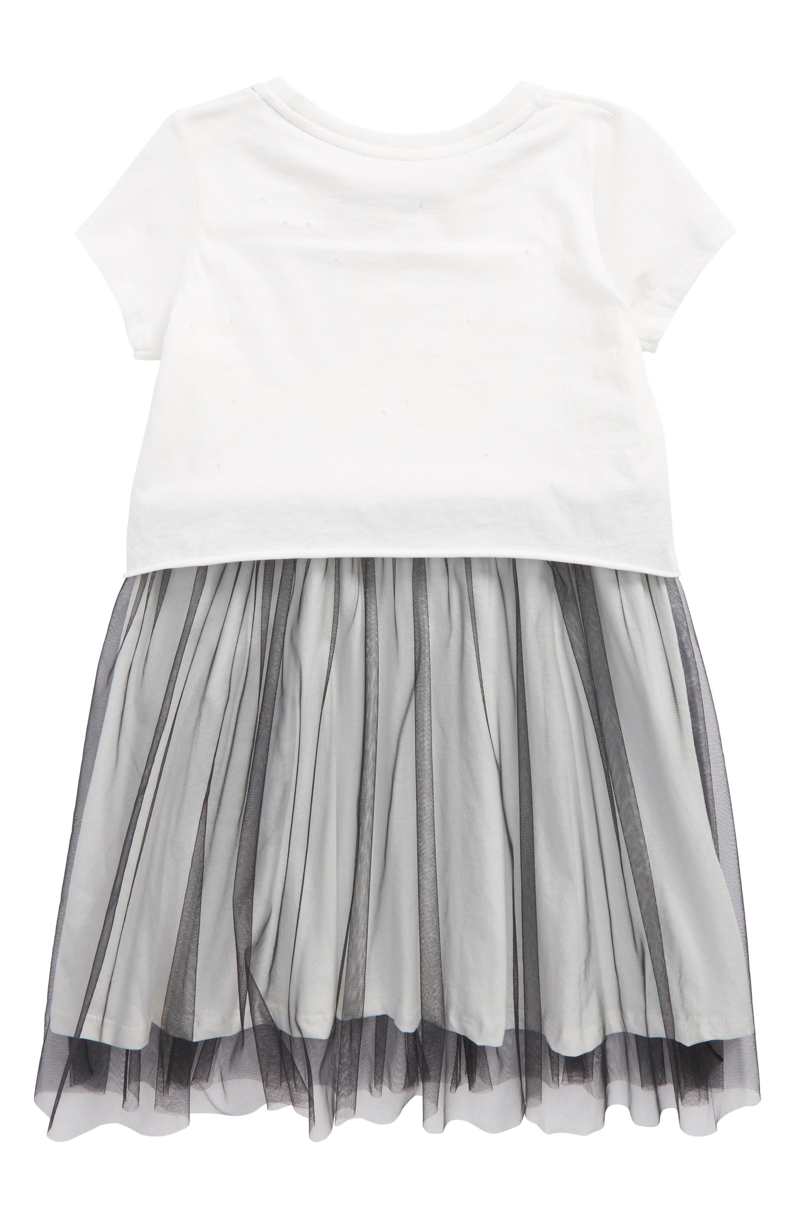 Unicorn Tutu Dress,                             Alternate thumbnail 2, color,                             Cream And Black