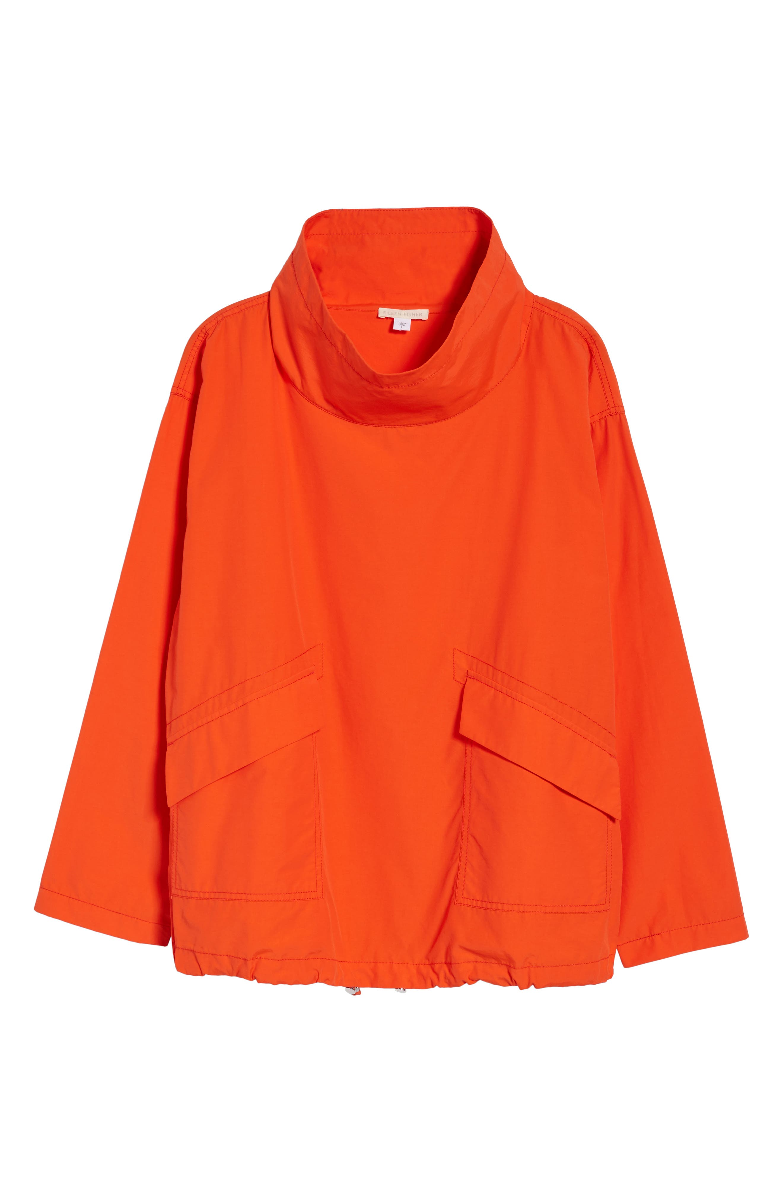 Pullover Jacket,                             Alternate thumbnail 7, color,                             Hot Red