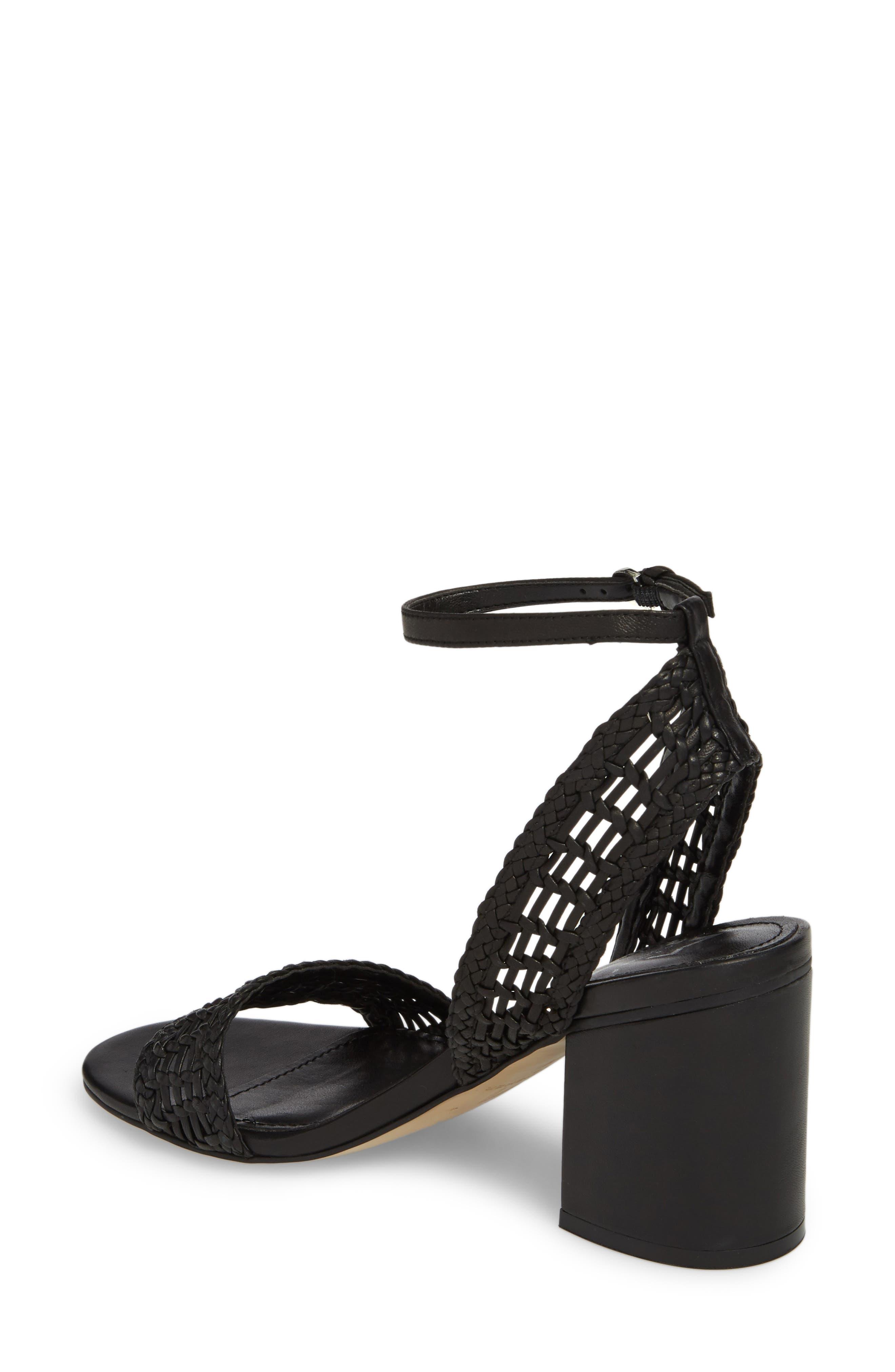 Amere Ankle Strap Sandal,                             Alternate thumbnail 2, color,                             Black Leather
