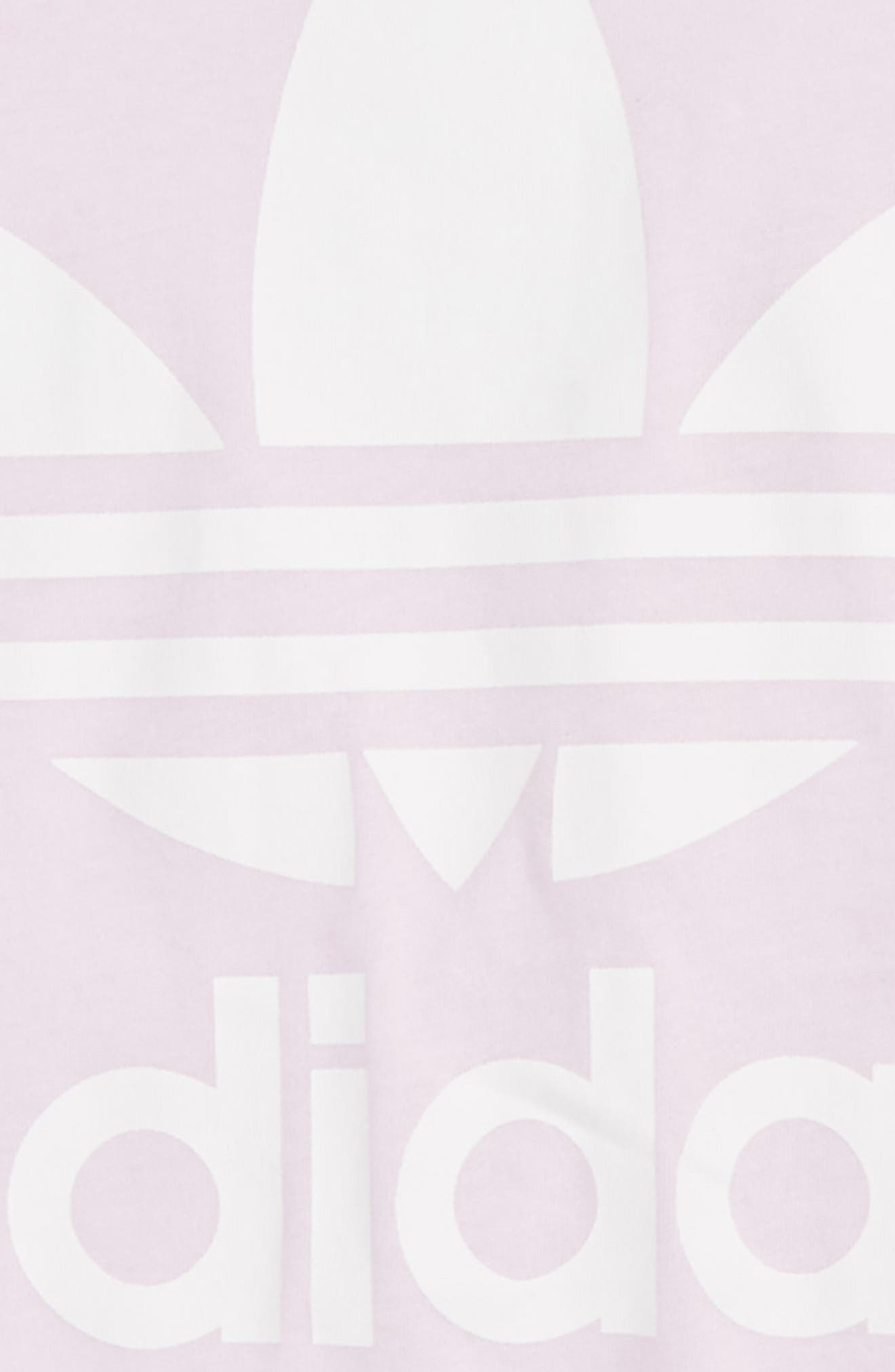 adidas Trefoil Logo Tee,                             Alternate thumbnail 2, color,                             Pink