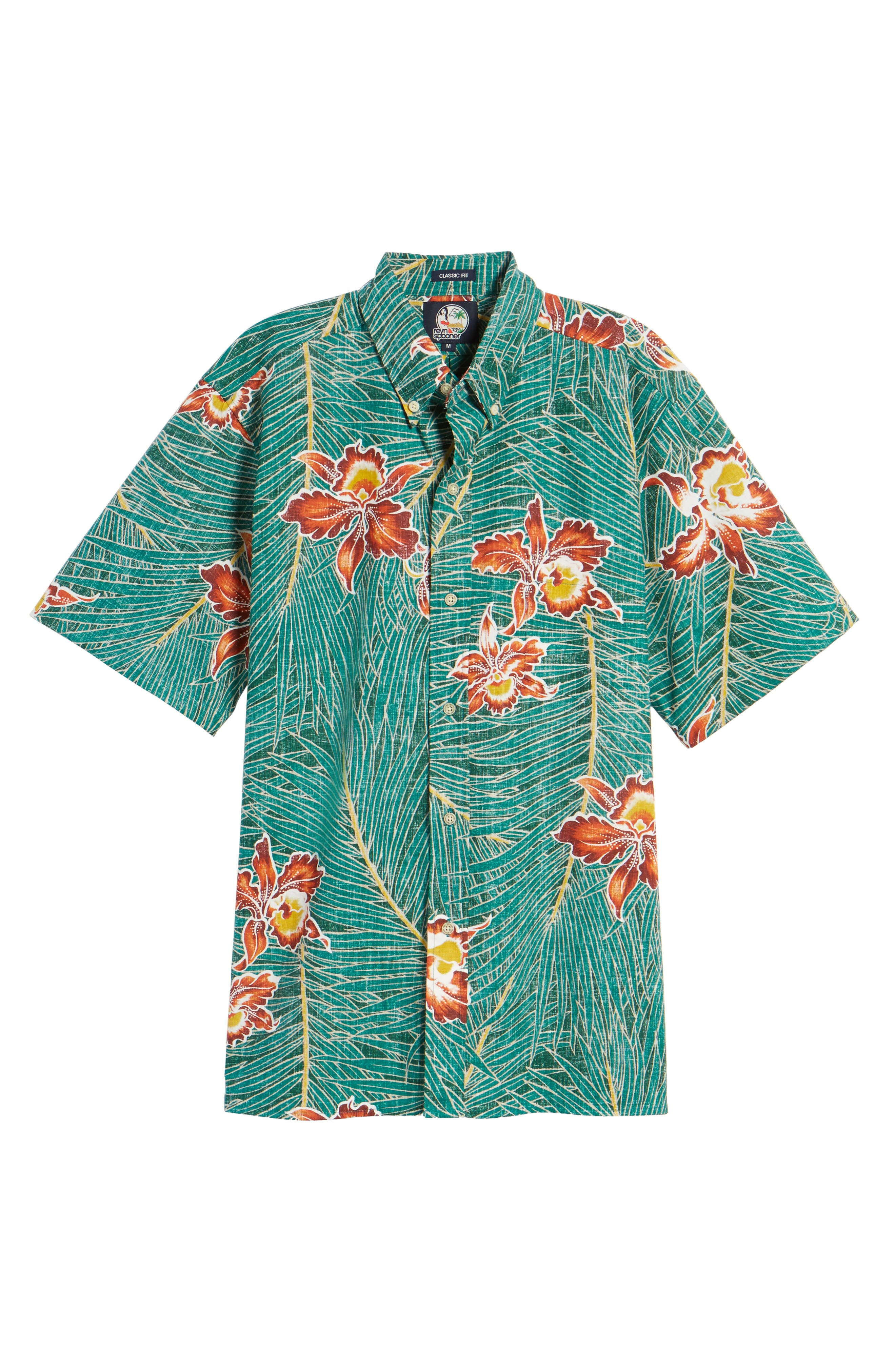 Alternate Image 6  - Reyn Spooner Okika Oasis Traditional Fit Sport Shirt
